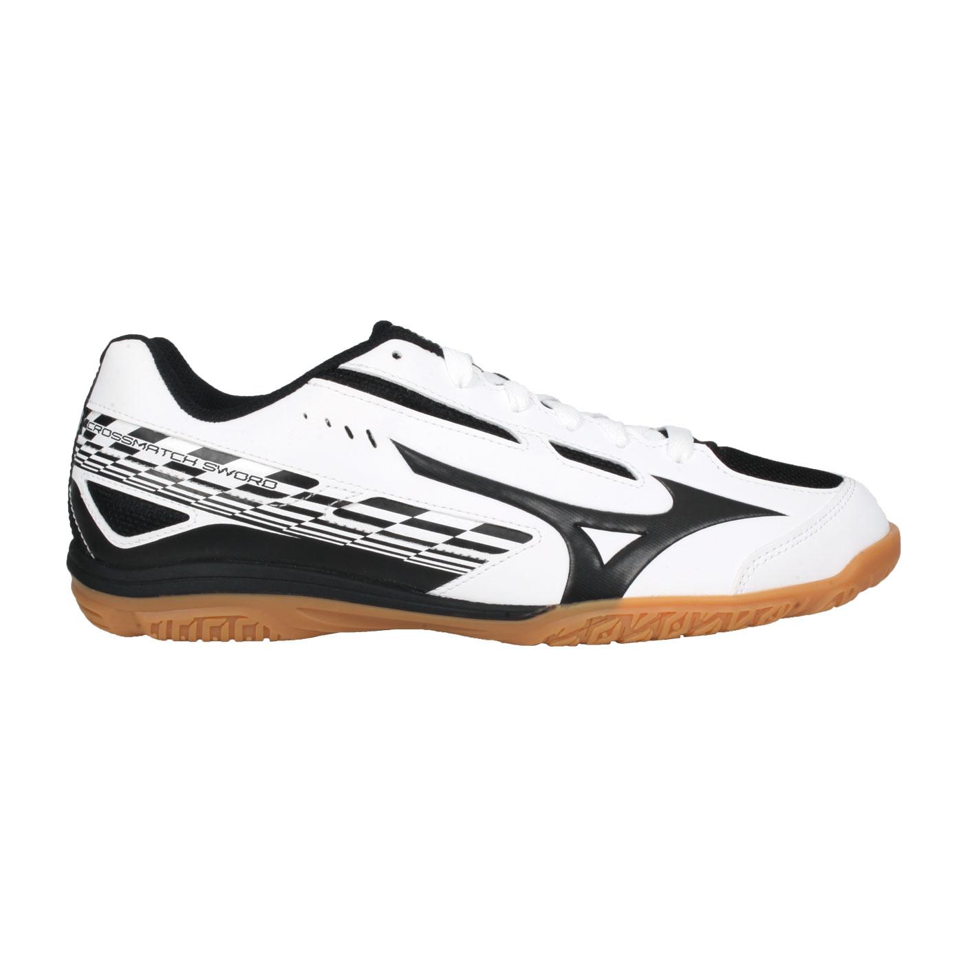 MIZUNO 男款桌球鞋   @CROSSMATCH SWORD@81GA213009 - 白黑