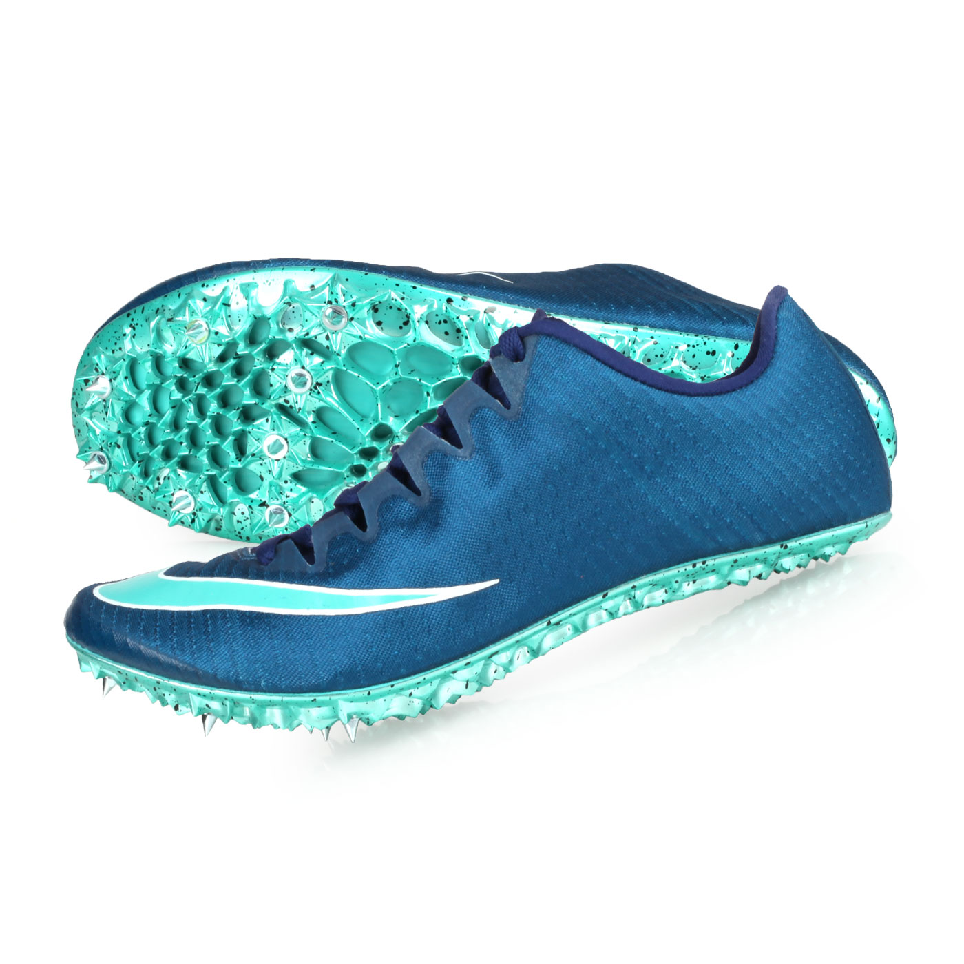 NIKE 田徑釘鞋(短距離)  @ZOOM SUPERFLY ELITE@835996001 - 墨藍湖水綠