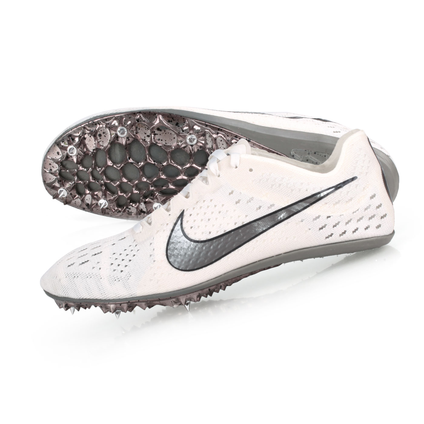 NIKE 田徑釘鞋(中長距離)  @ZOOM VICTORY ELITE 2@835998001 - 白黑銀