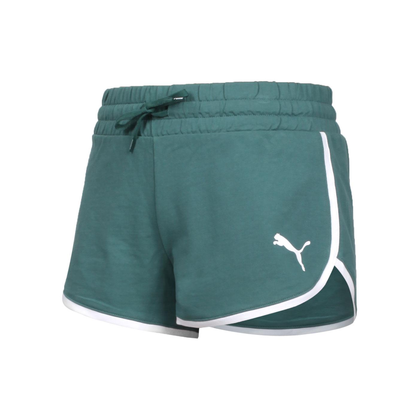 PUMA 女款基本系列Summer Stripes短褲 84582445 - 綠白