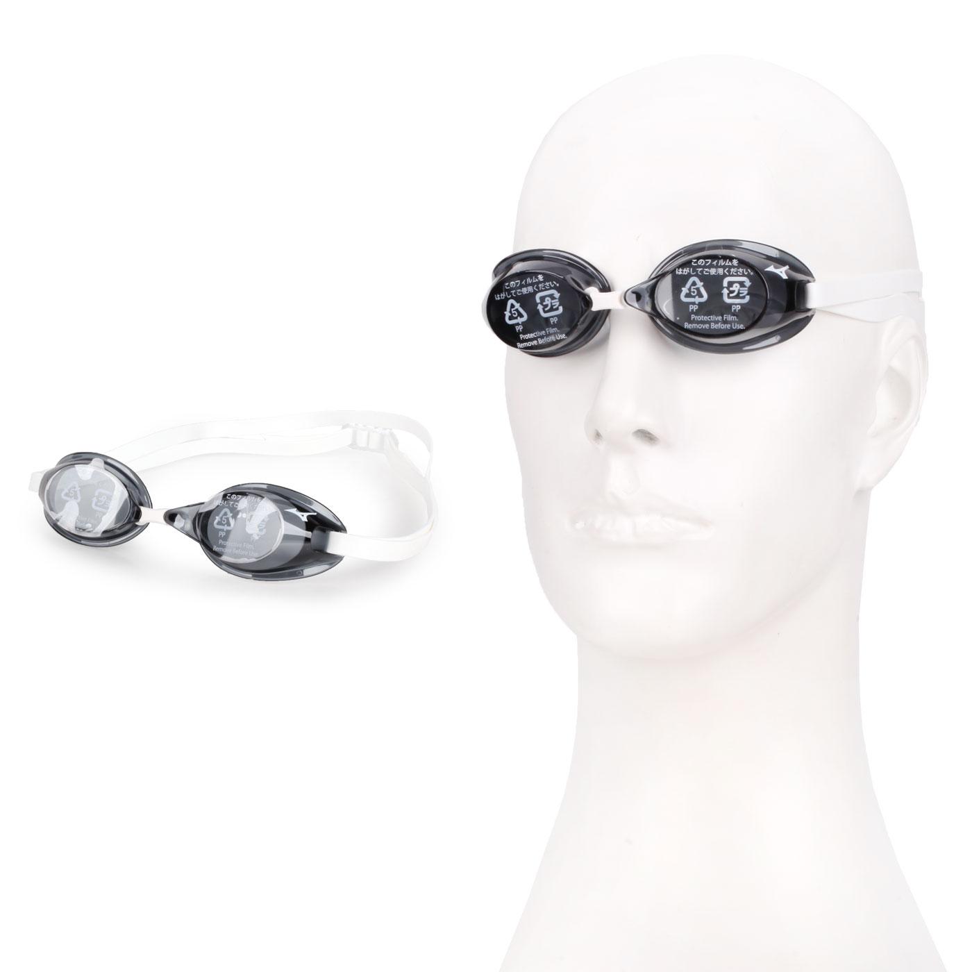 MIZUNO 日製競速型無墊片泳鏡  SWIM85YA-75000-10 - 黑白
