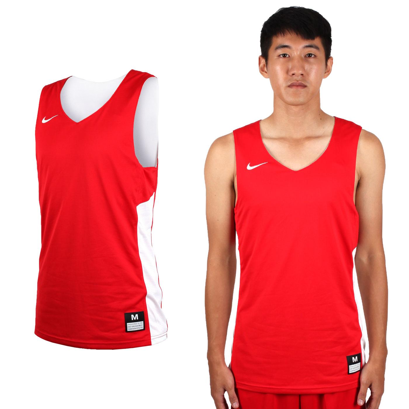 NIKE 男款雙面籃球針織背心 867767658 - 紅白