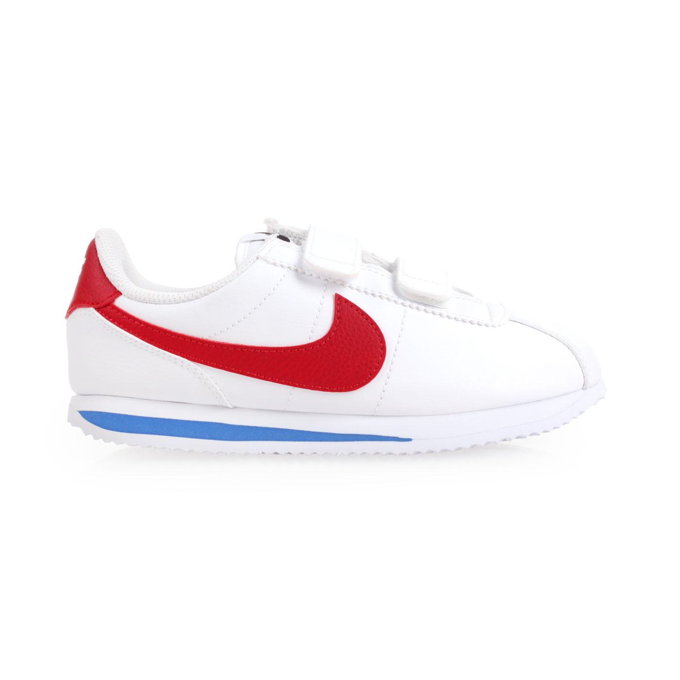 NIKE 兒童復古休閒鞋  @CORTEZ BASIC SL (PSV)@904767103 - 白紅藍