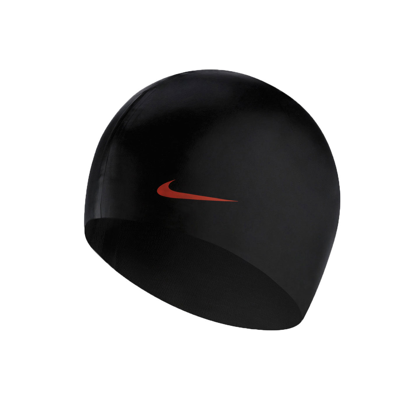 NIKE SWIM 成人矽膠泳帽 93060-001 - 黑橘
