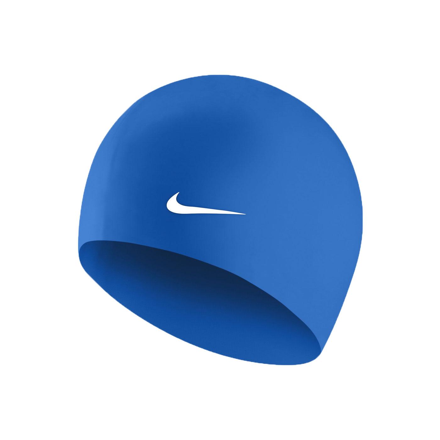 NIKE SWIM 成人矽膠泳帽 93060-494 - 藍白