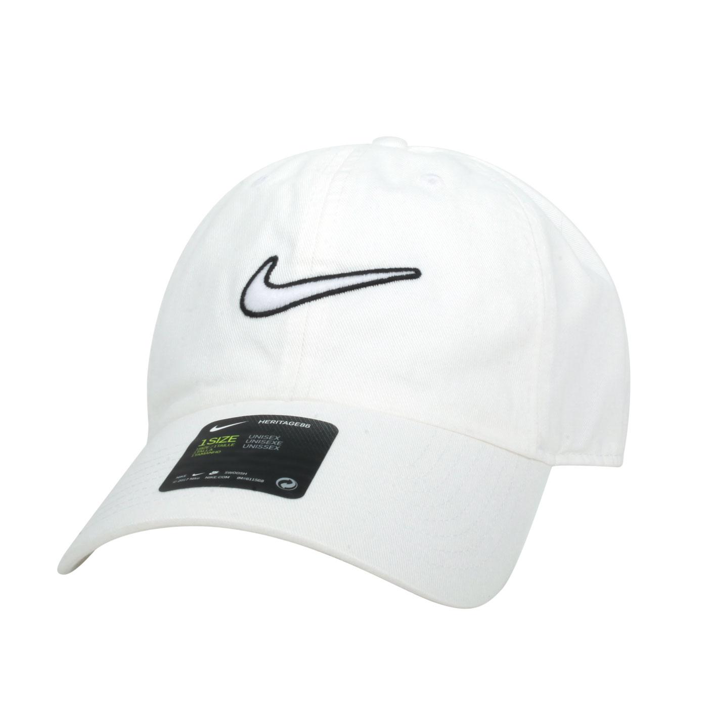 NIKE 運動帽 943091-100 - 白黑