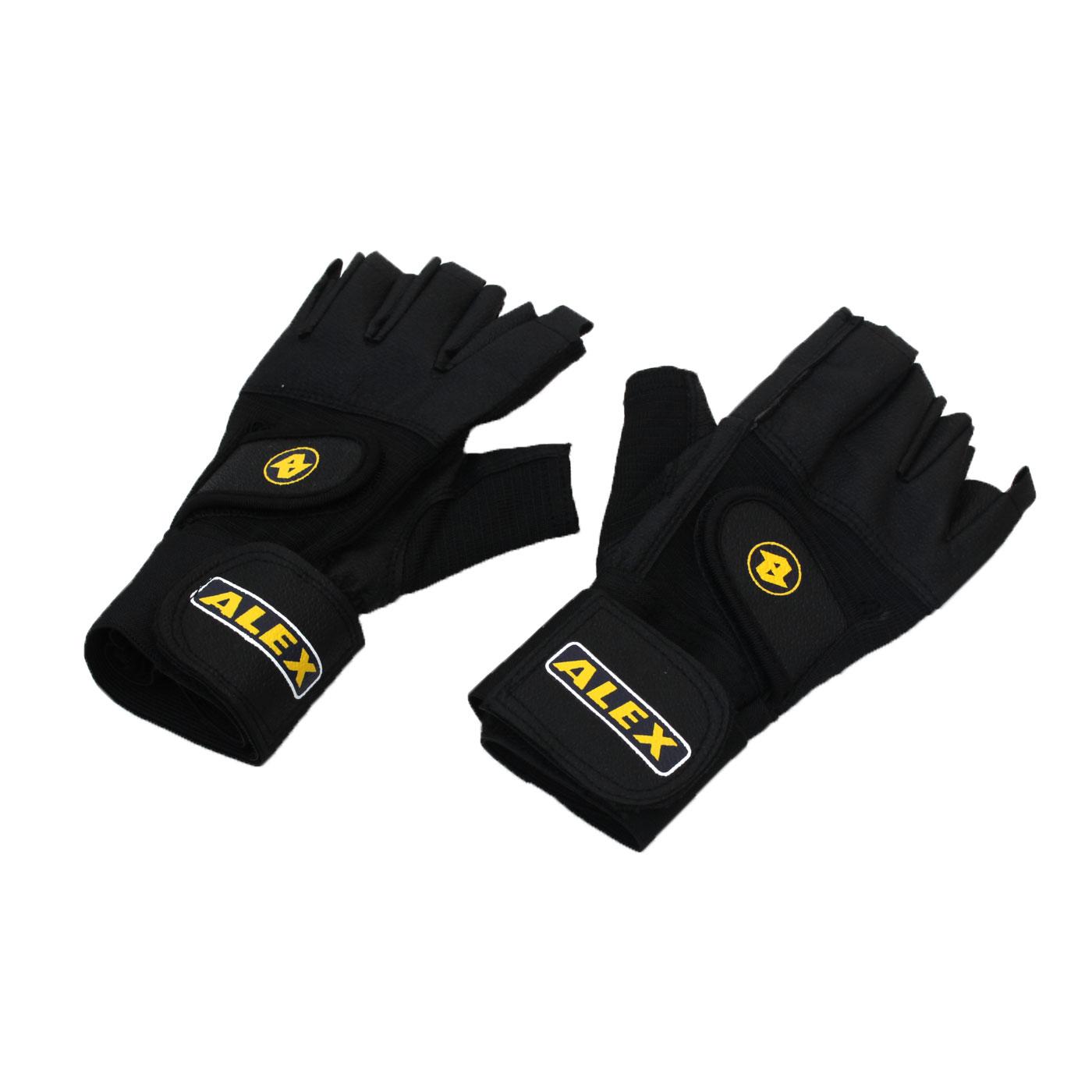 ALEX 皮革手套 A-18 - 黑