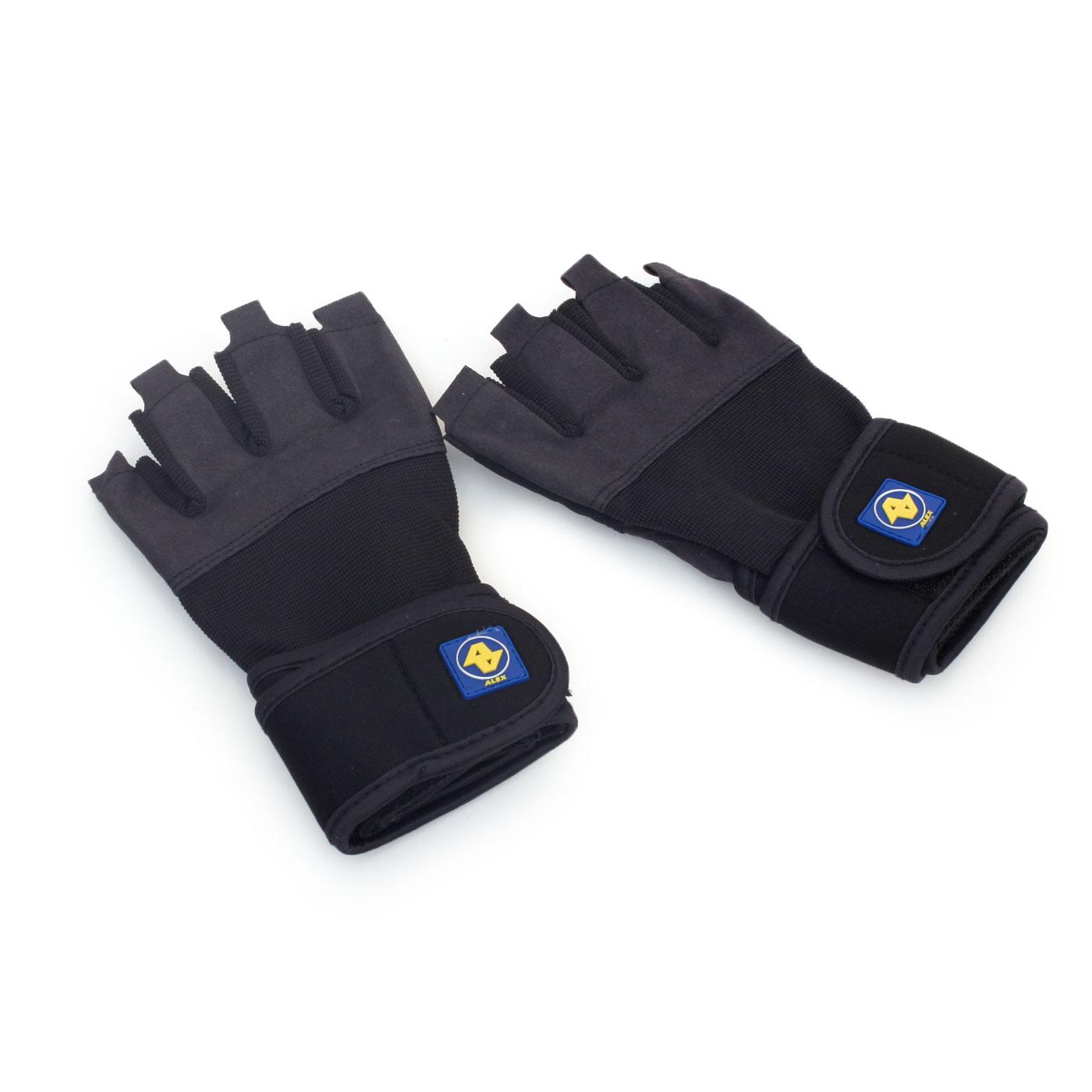 ALEX  重量訓練手套A-36 - 黑深灰