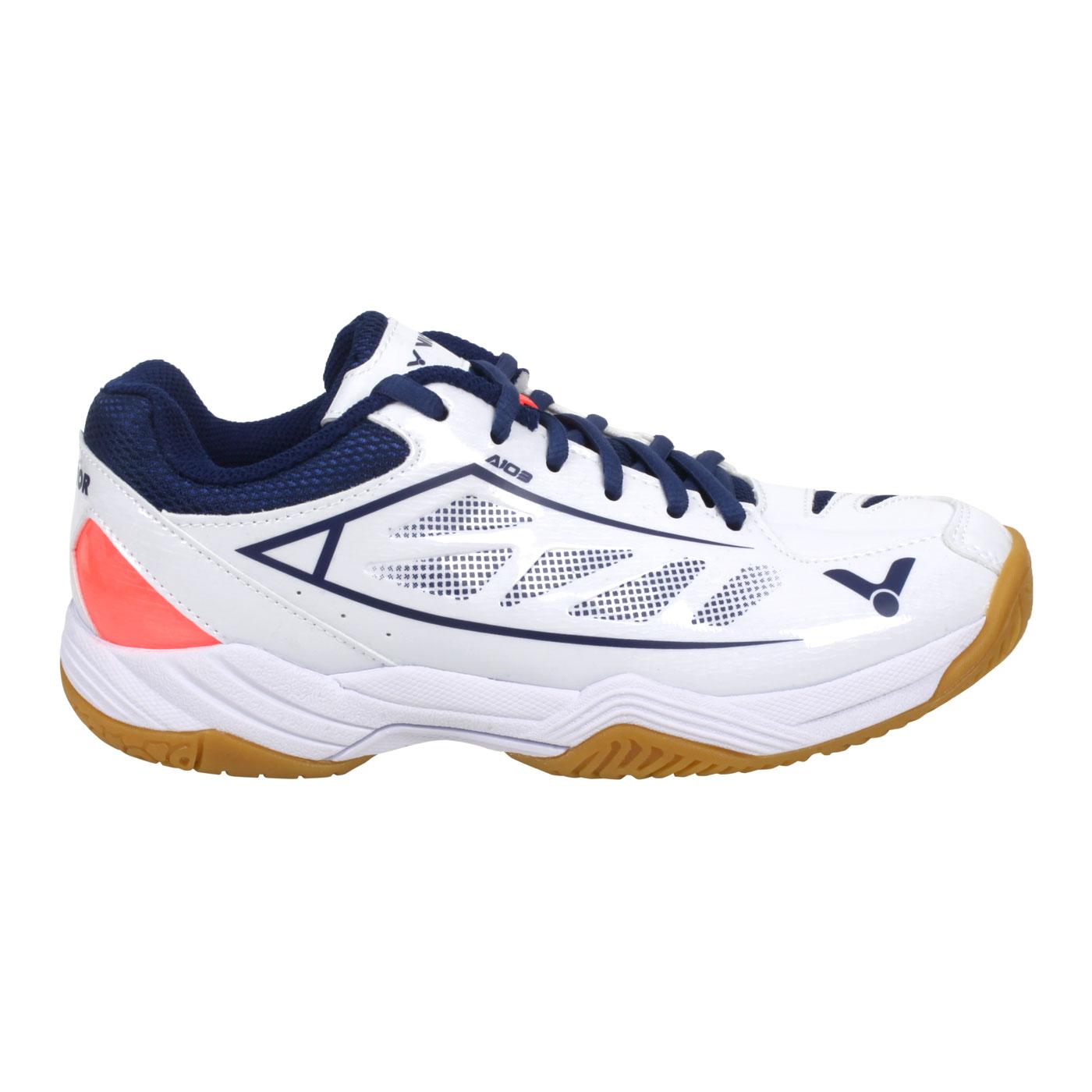 VICTOR 羽球鞋 A103-AB - 白藍亮橘