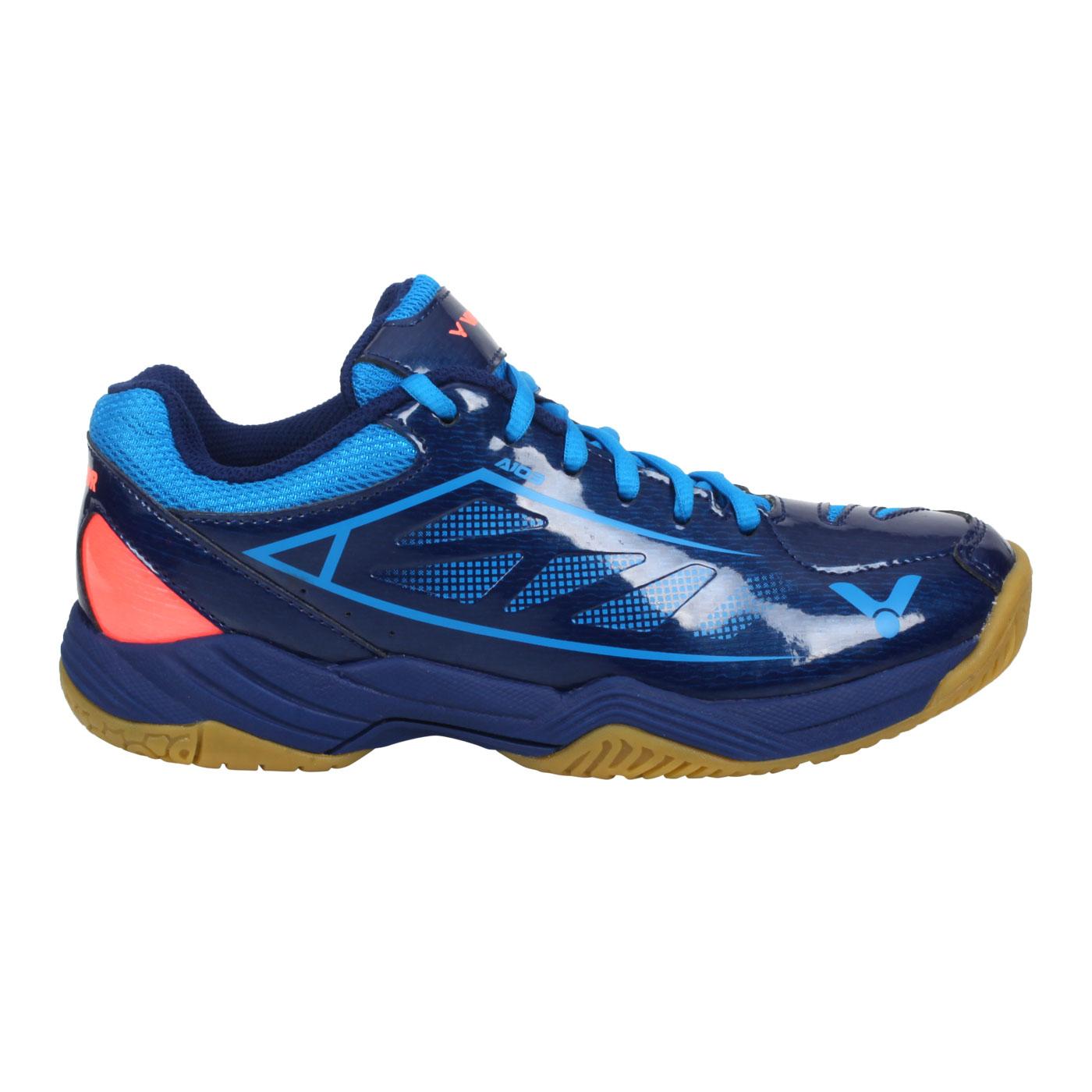 VICTOR 羽球鞋 A103-BF - 丈青藍橘