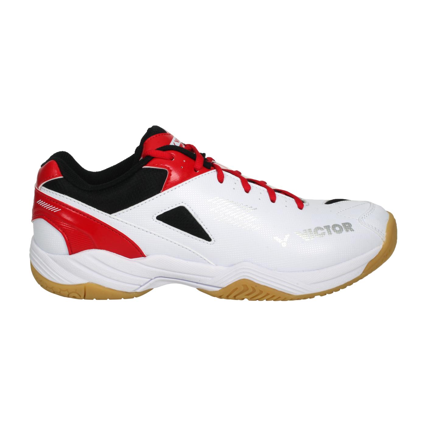 VICTOR 男女羽球鞋 A171-AD - 白黑紅