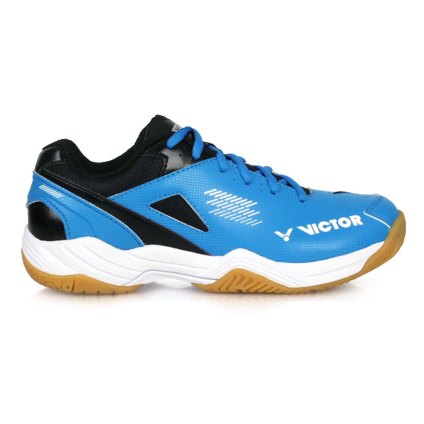 VICTOR 專業羽球鞋-4E A171-CS - 藍黑白