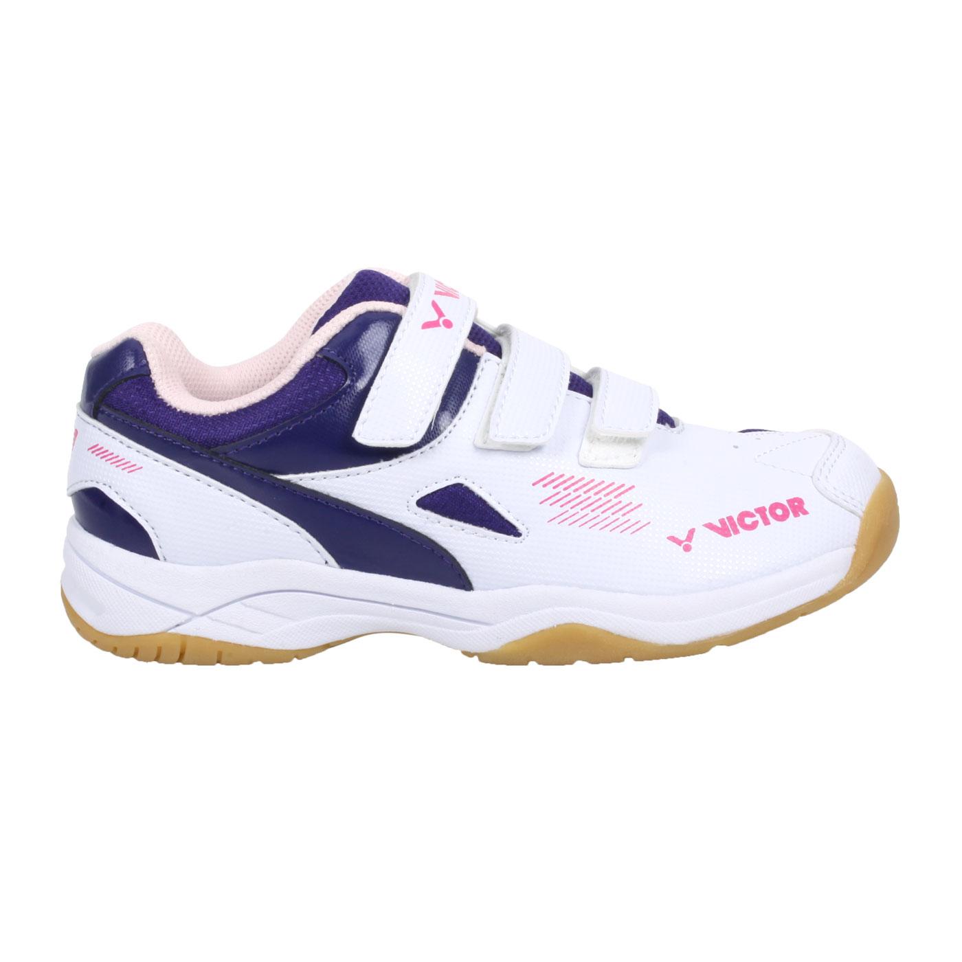 VICTOR 中童羽球鞋 A171JR-AJ - 白桃紅藍