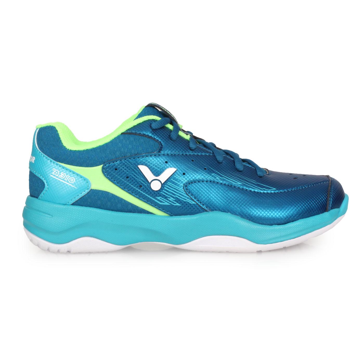 VICTOR 專業羽球鞋-3E A310-FU - 靛青碧藍綠