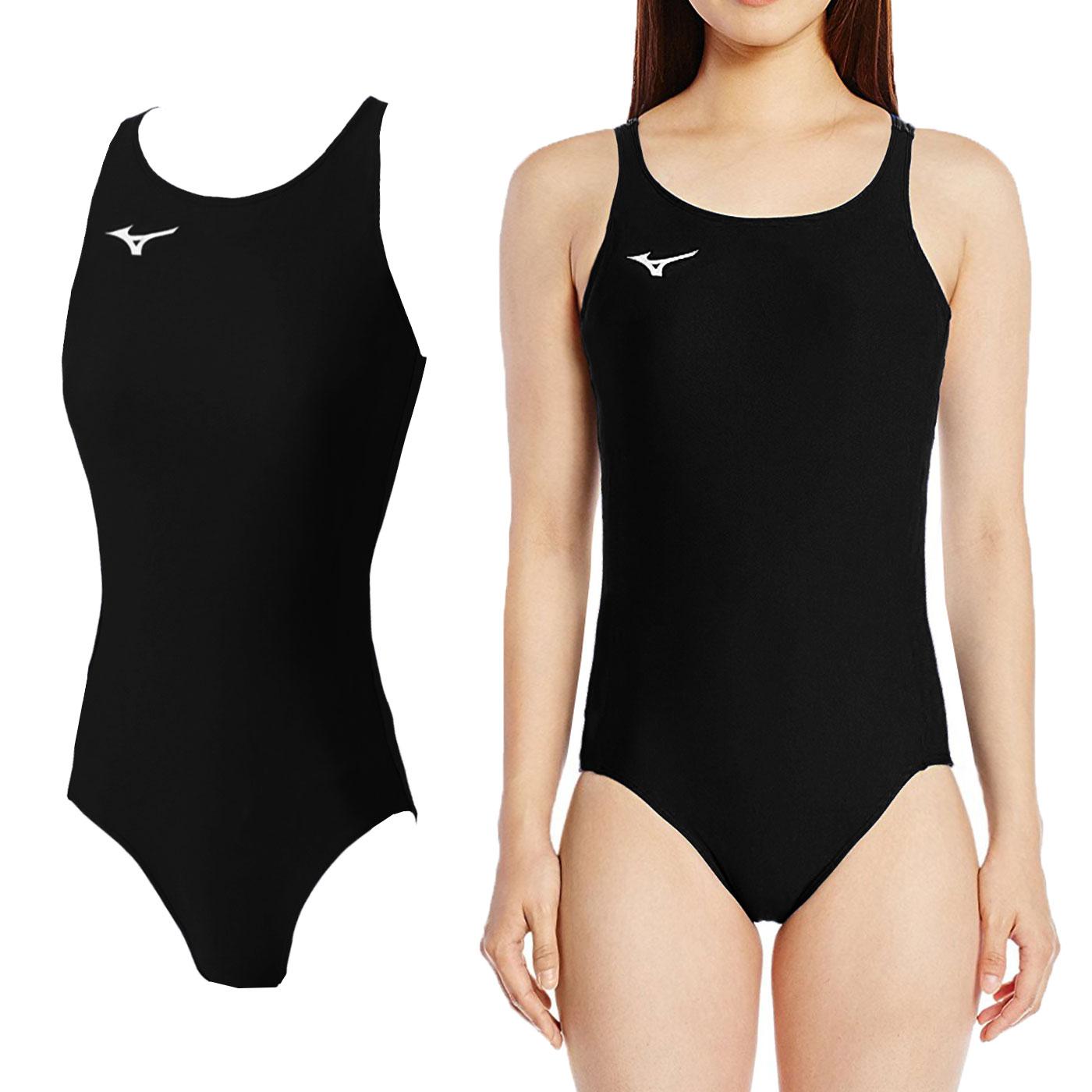 MIZUNO BASIC女連身泳衣 A85EB75009 - 黑白