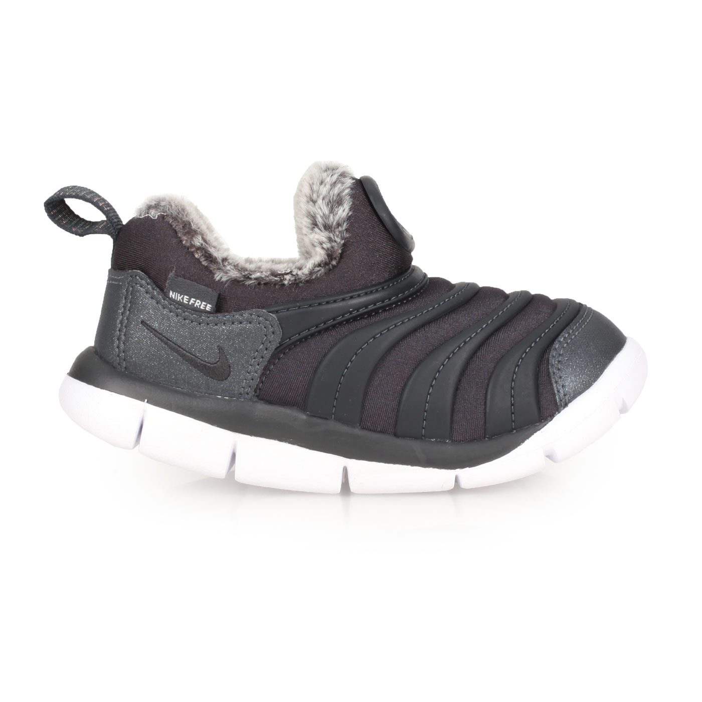 NIKE 小童毛毛蟲保暖運動鞋  @DYNAMO FREE SE (TD)@AA7217002 - 黑灰白
