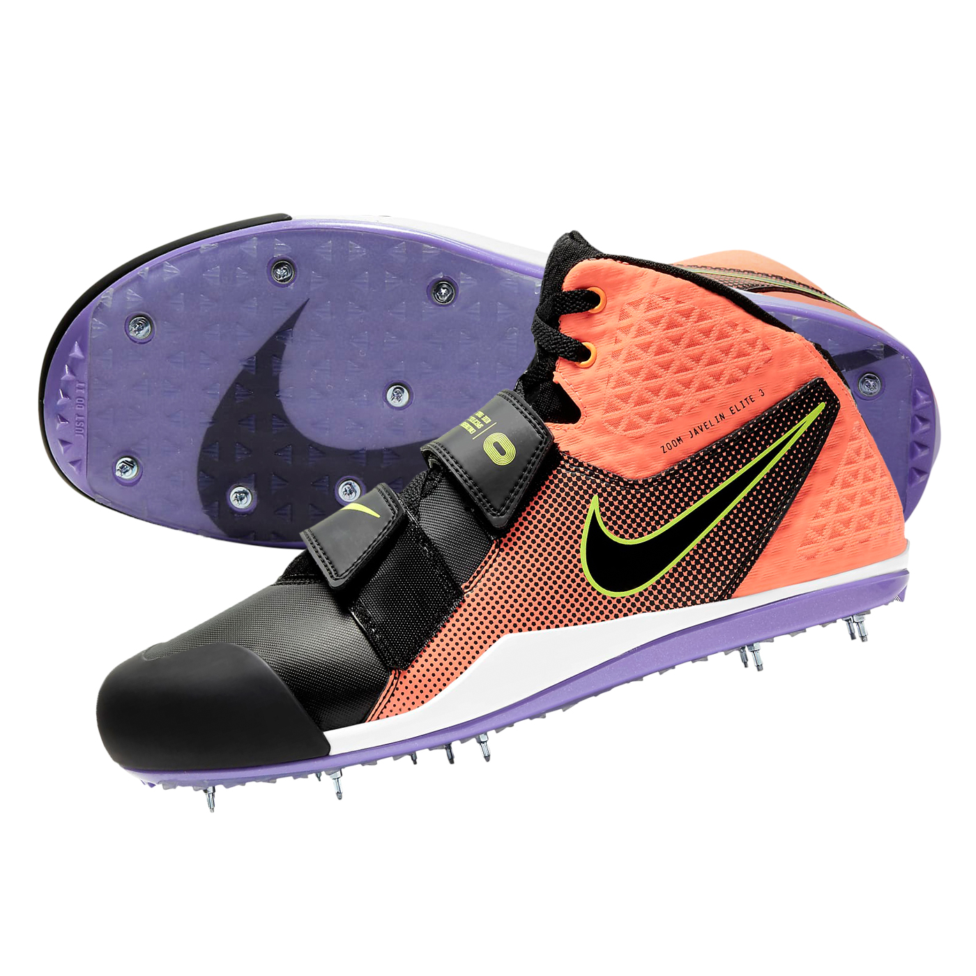 NIKE 田徑標槍釘鞋  @ZOOM JAVELIN ELITE 3@AJ8119800 - 亮橘黑綠紫