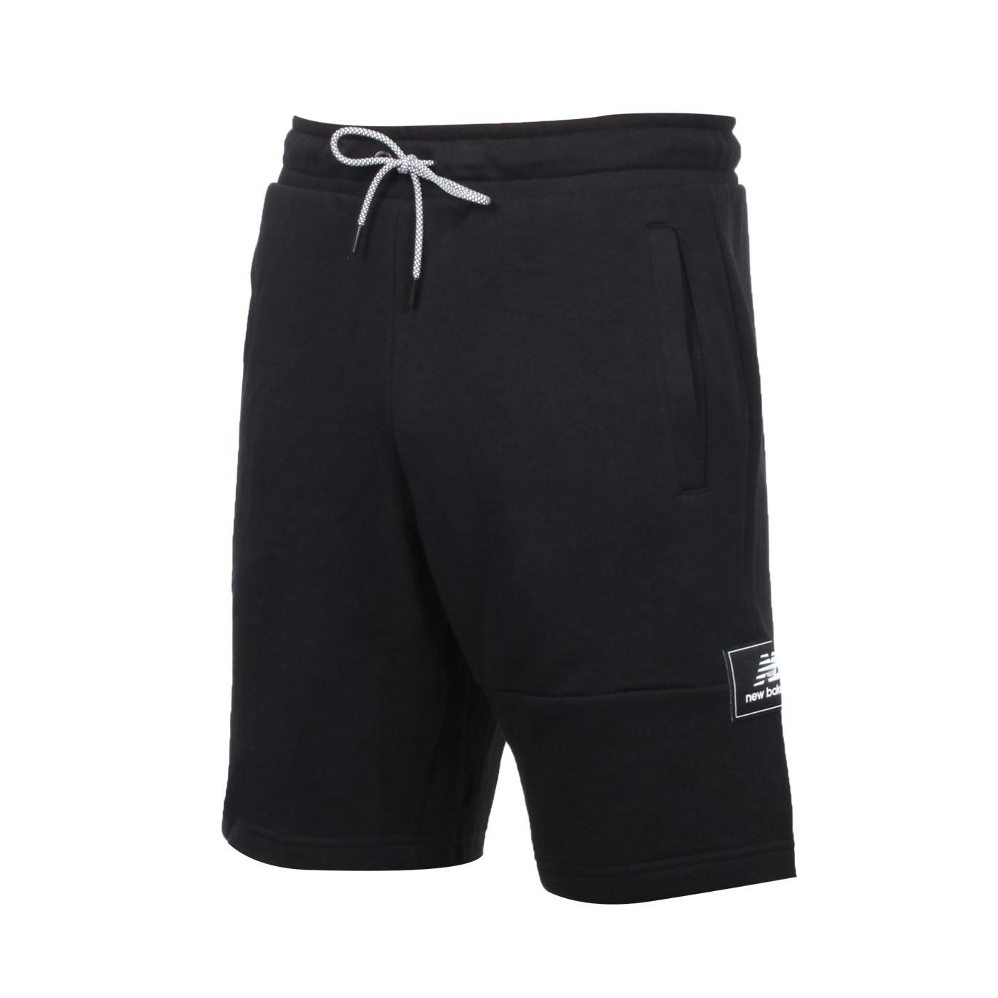 NEW BALANCE 男款棉短褲 AMS13502BK - 黑白