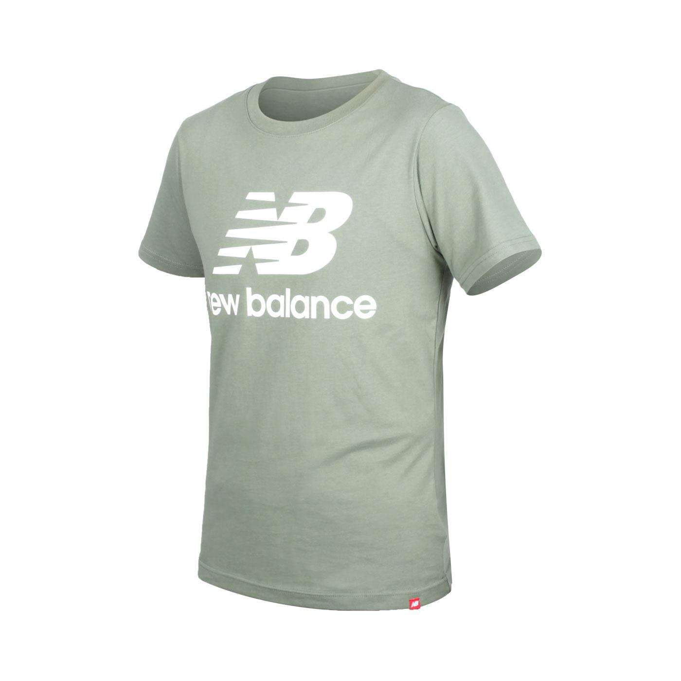 NEW BALANCE 男款短袖T恤 AMT01575CEL - 綠白