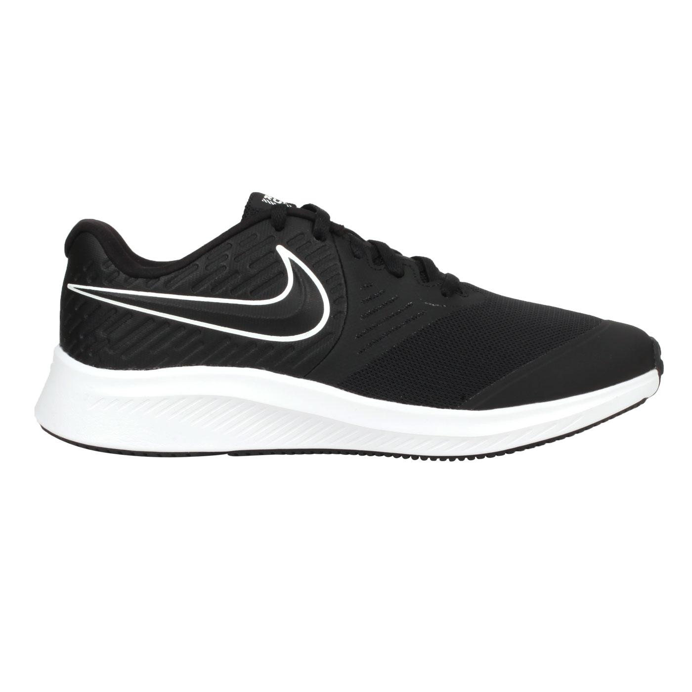 NIKE 大童慢跑鞋  @STAR RUNNER 2 (GS)@AQ3542001 - 黑白
