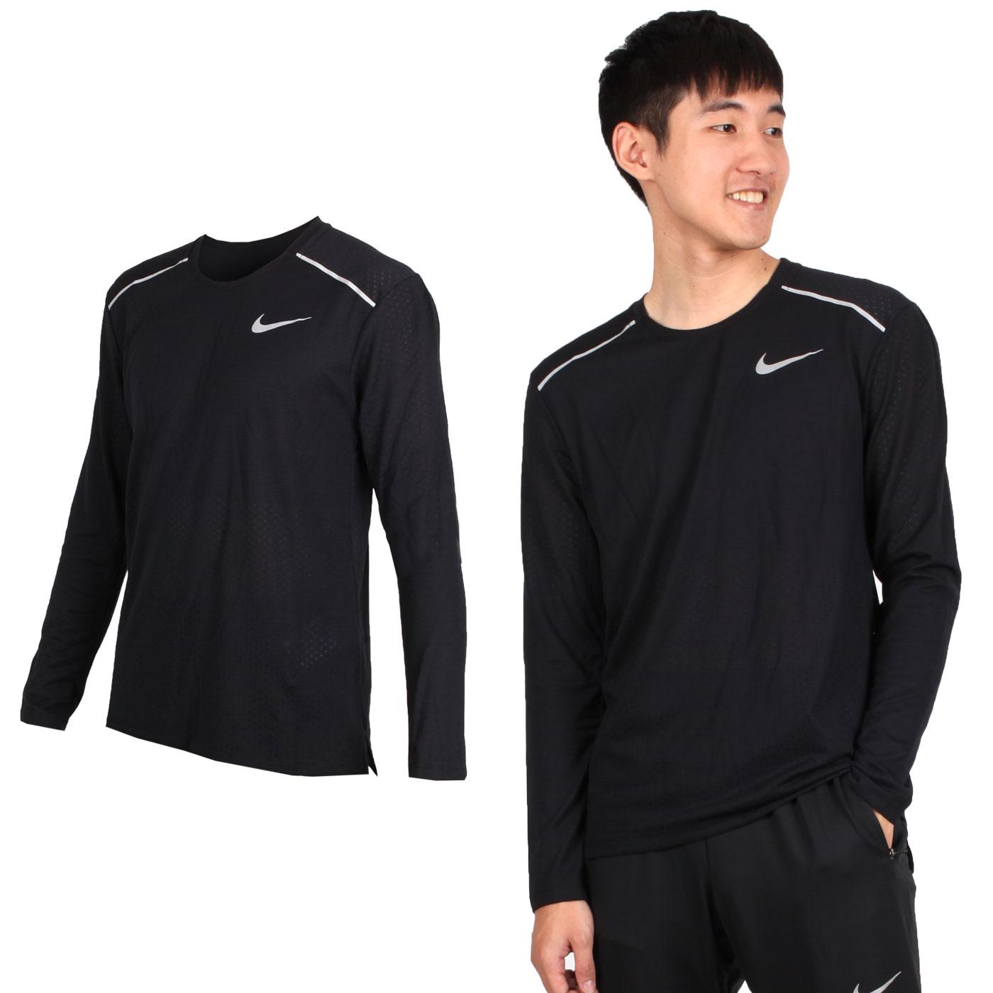 NIKE 男款運動長袖T恤 AQ9924010 - 黑銀