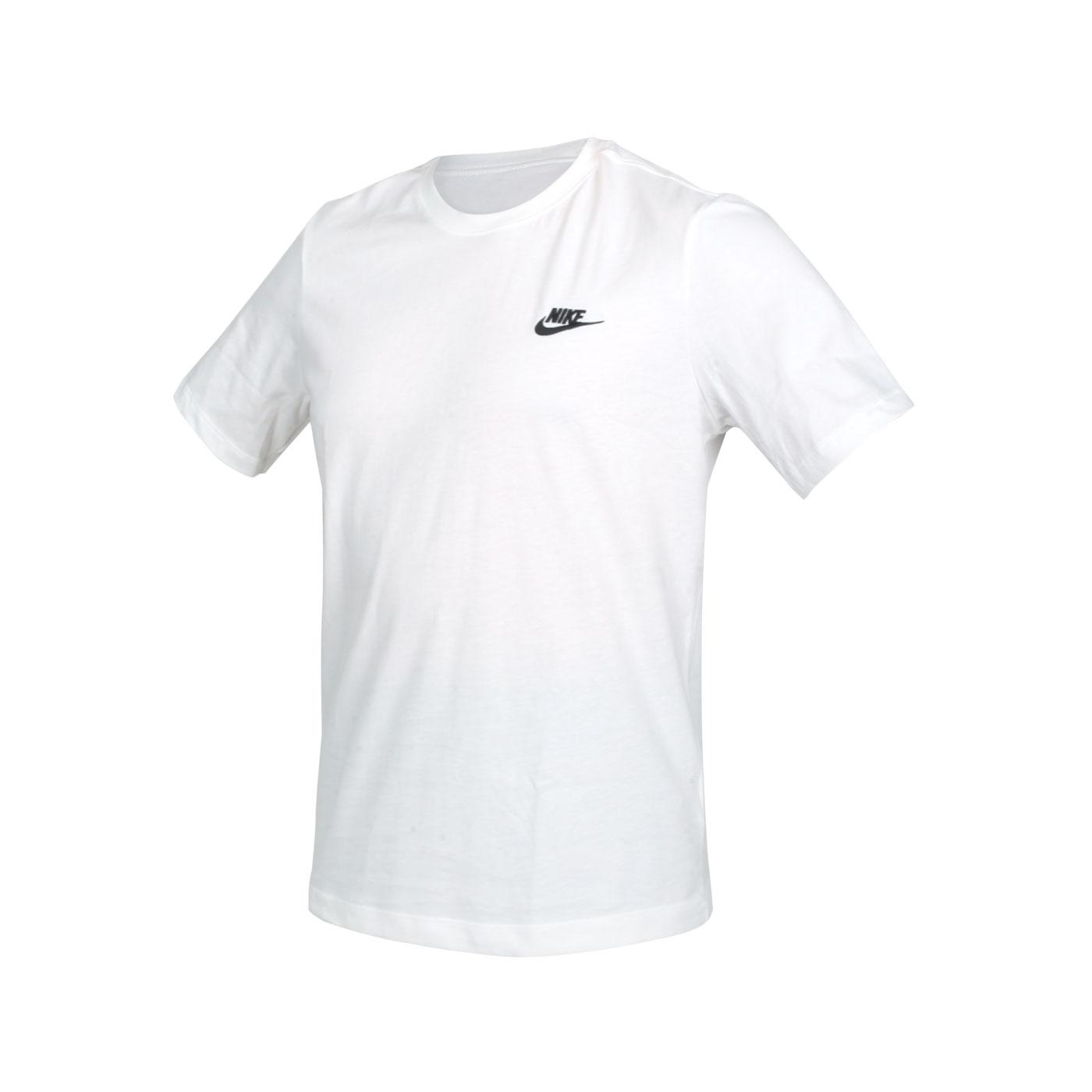 NIKE 男女款短袖T恤 AR4999-101 - 白黑