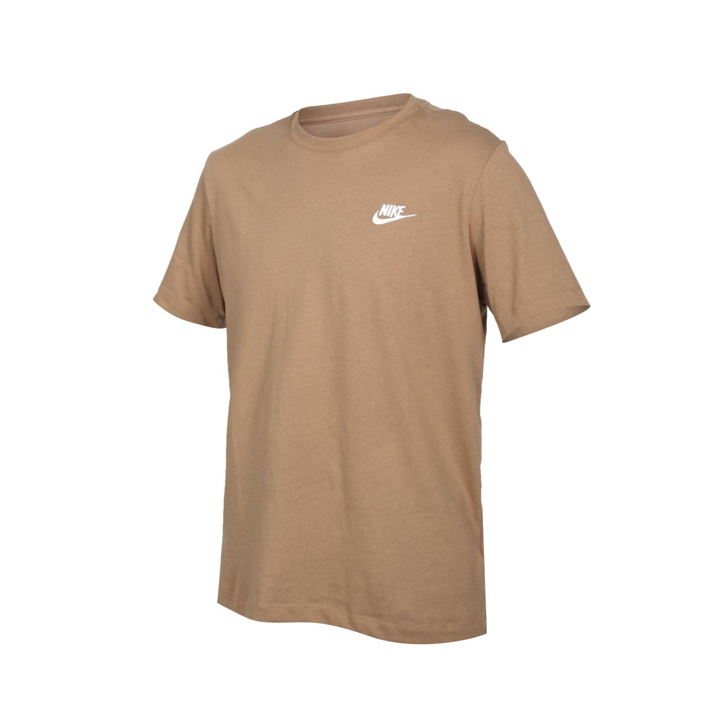 NIKE 男款短袖T恤 AR4999-258 - 深棕白