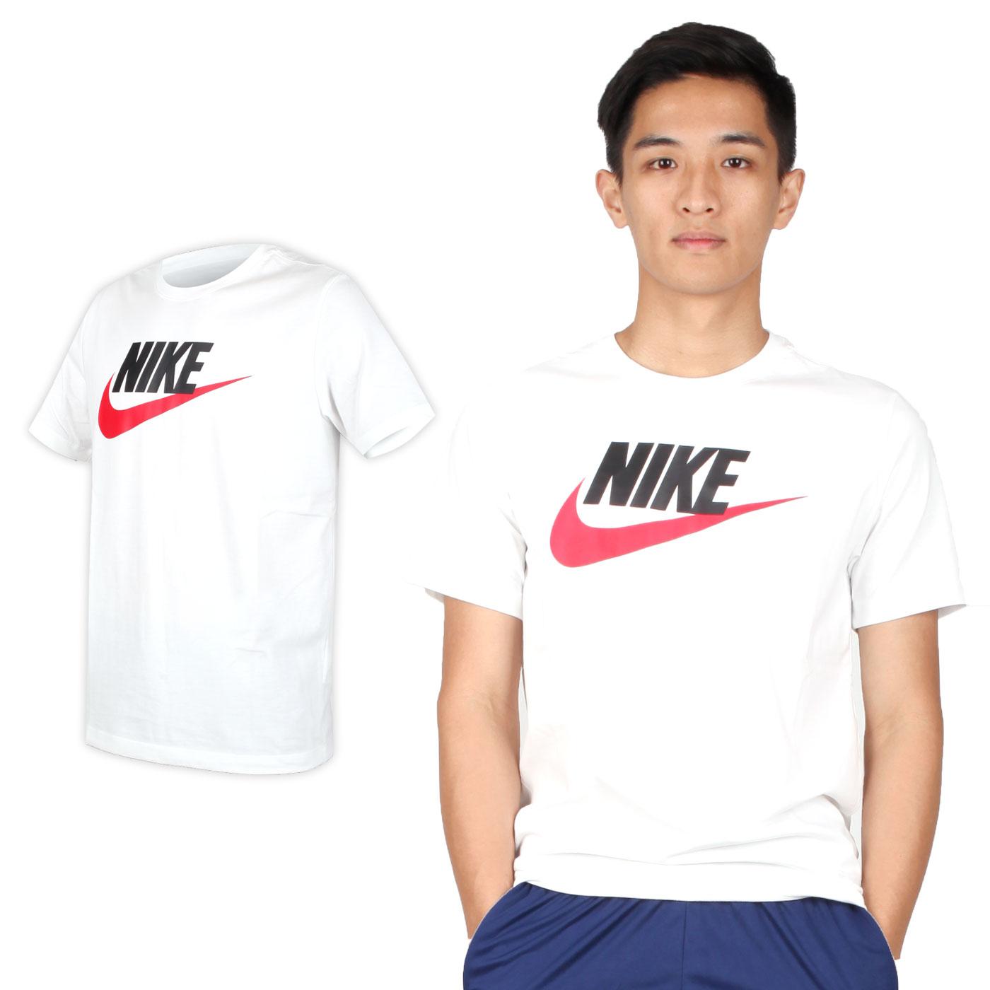 NIKE 男款短袖T恤 AR5005010 - 白黑紅