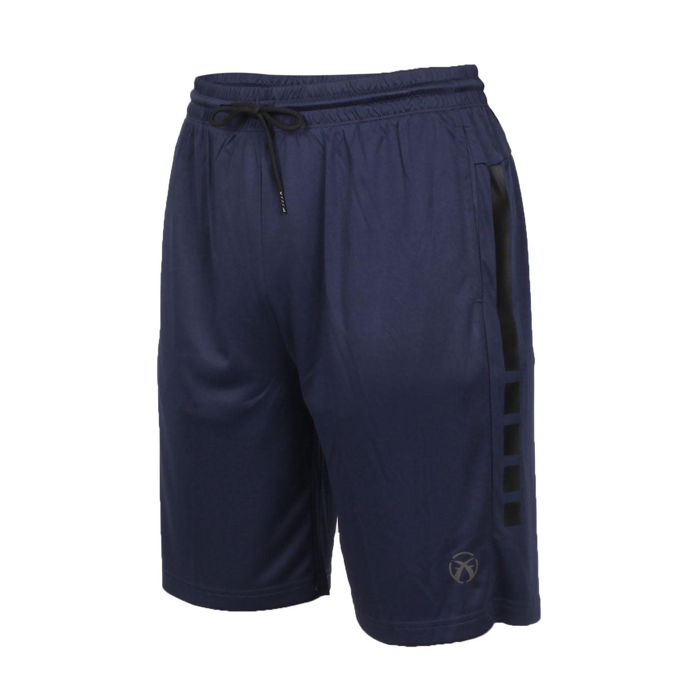 FIRESTAR 男款吸排訓練籃球褲 B0501-10 - 丈青黑銀