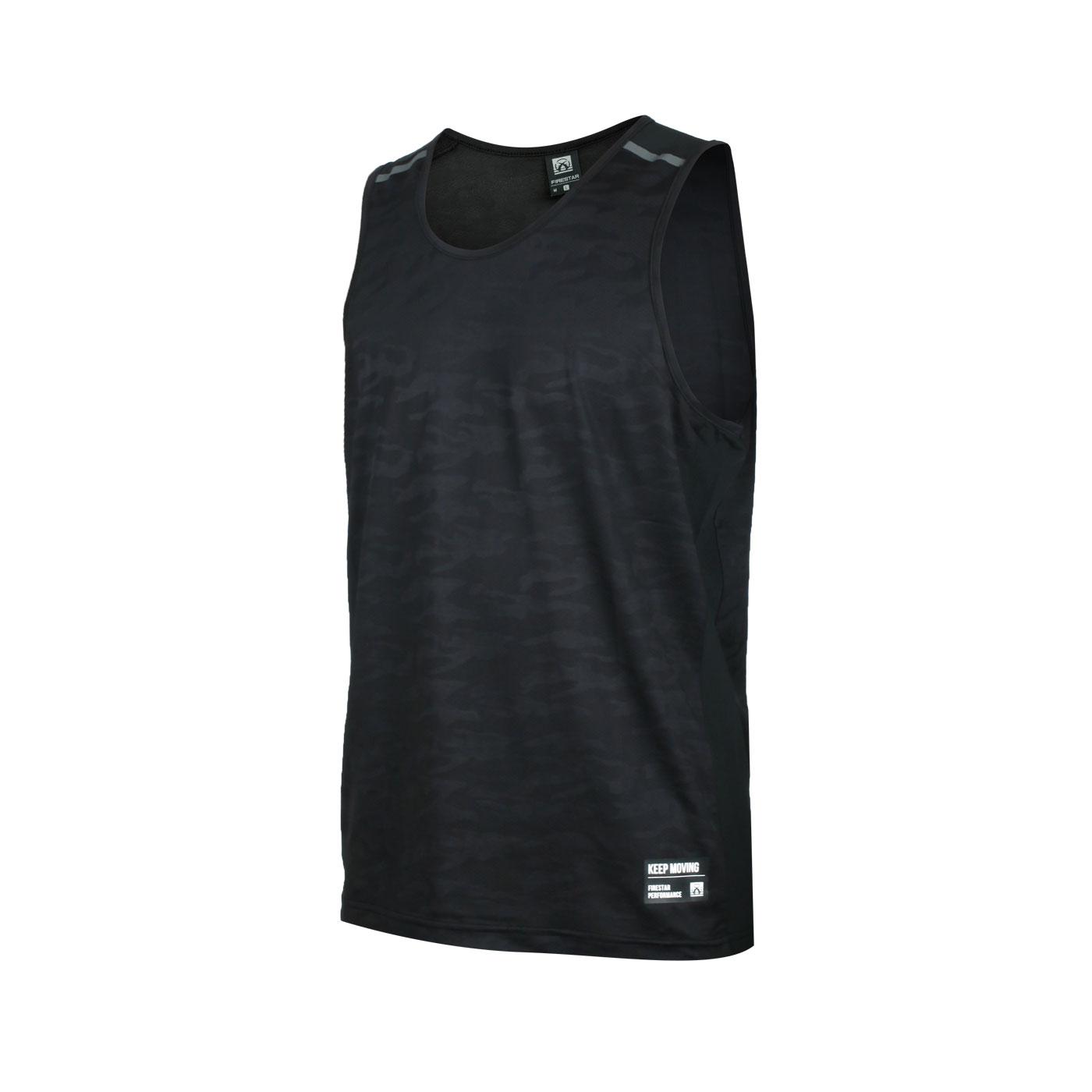 FIRESTAR 男款彈性訓練籃球背心 B0509-10 - 黑