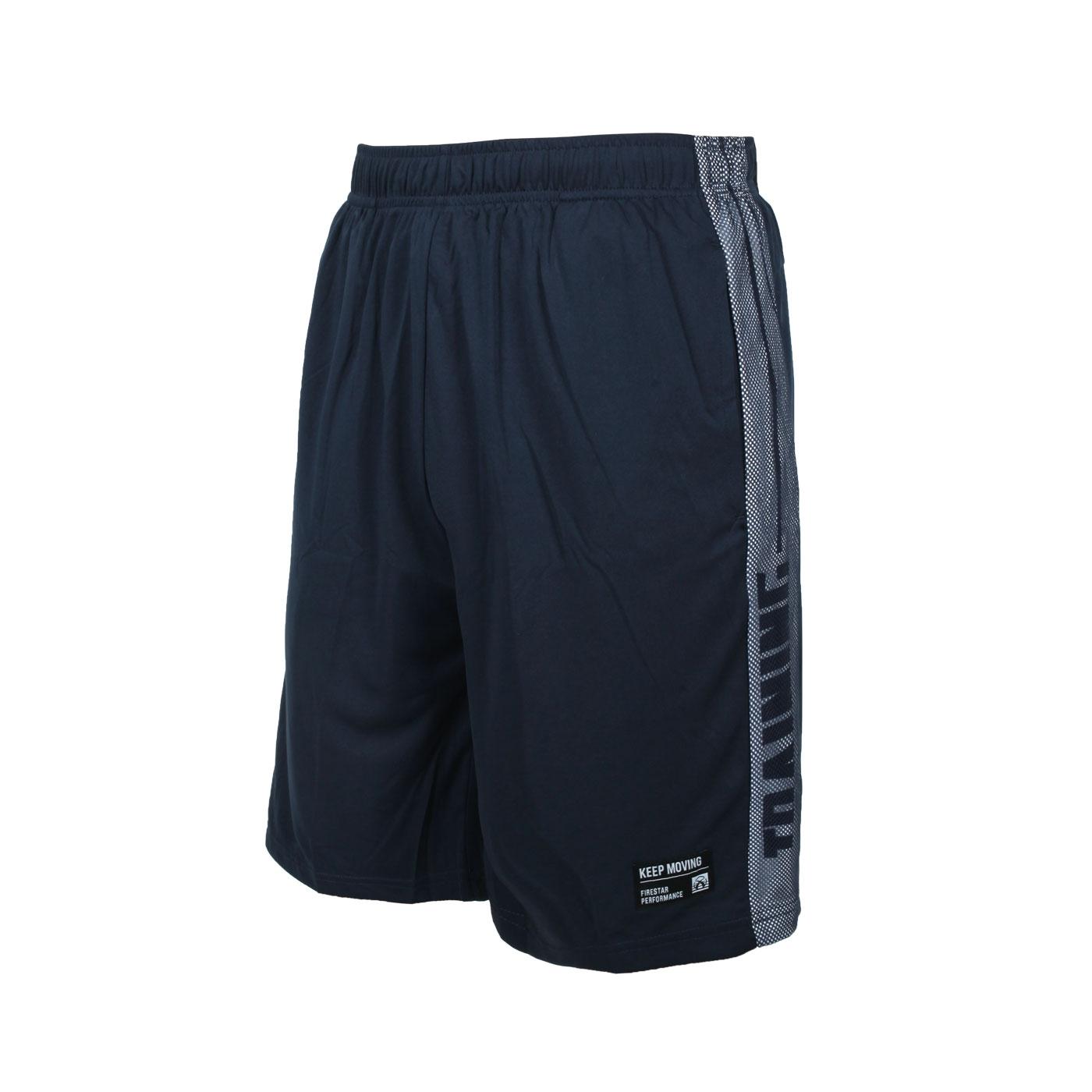 FIRESTAR 男吸排訓練籃球褲 B1702-93 - 丈青白