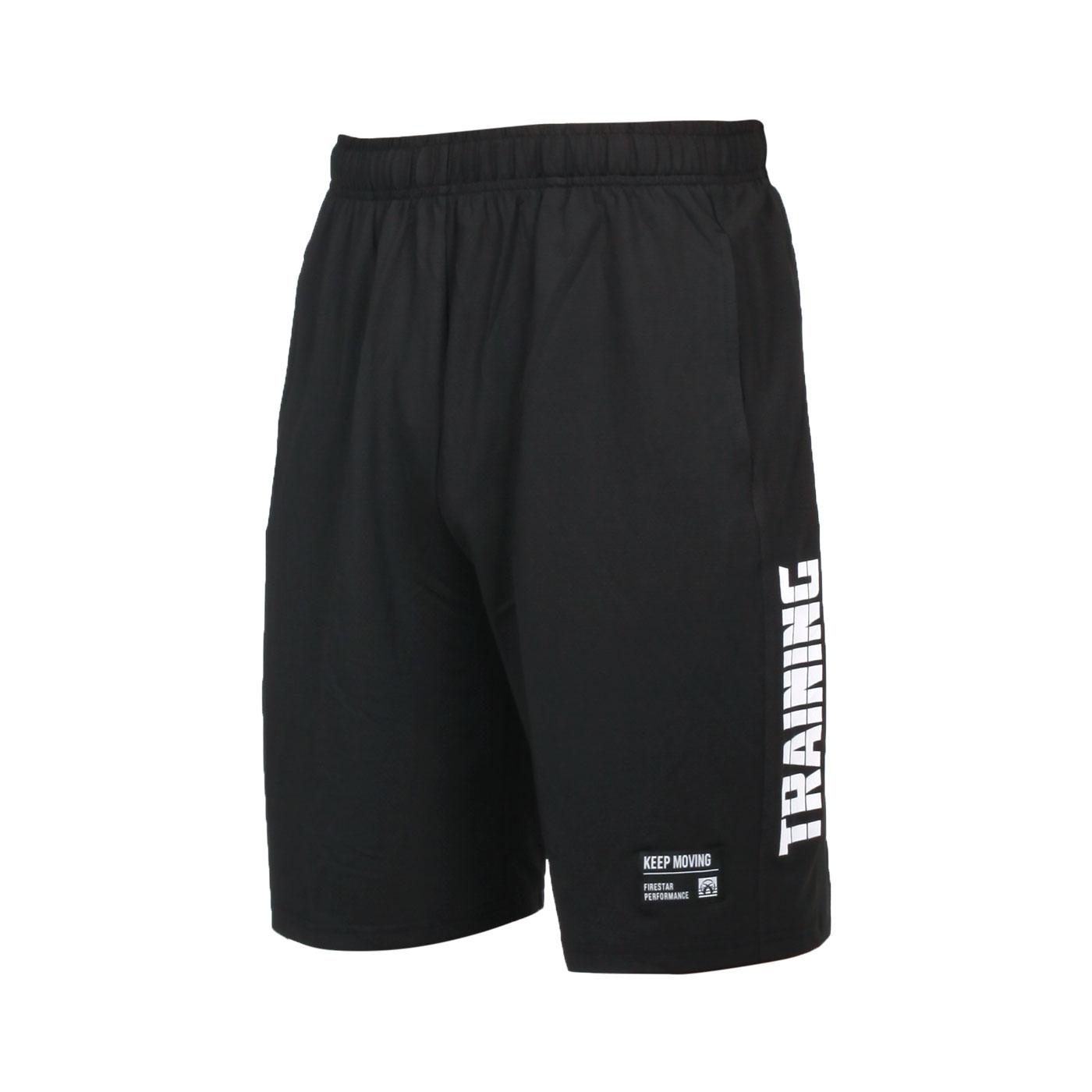 FIRESTAR 男款彈性訓練籃球短褲 B1703-20 - 黑白