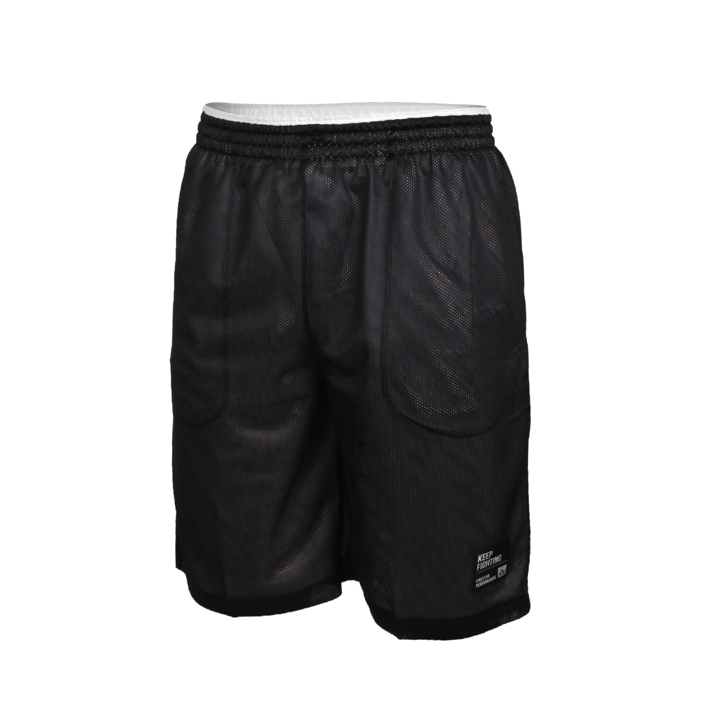 FIRESTAR 男款雙面訓練籃球短褲 B1706-15 - 黑白