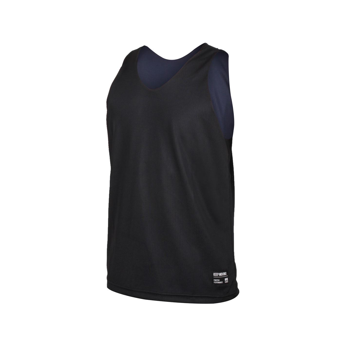 FIRESTAR 男款雙面訓練籃球背心 B1707-10 - 黑丈青