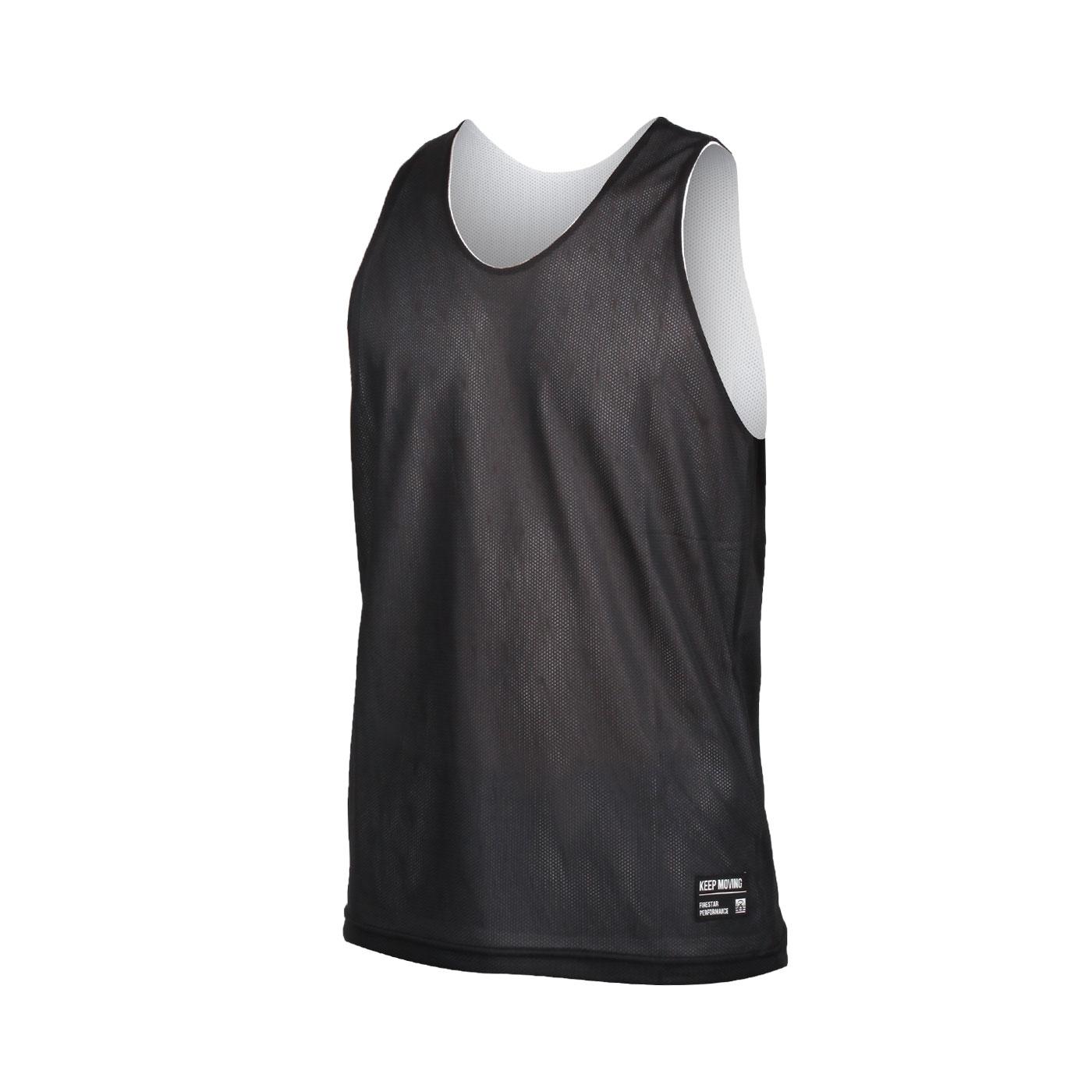 FIRESTAR 男款雙面訓練籃球背心 B1707-15 - 黑白