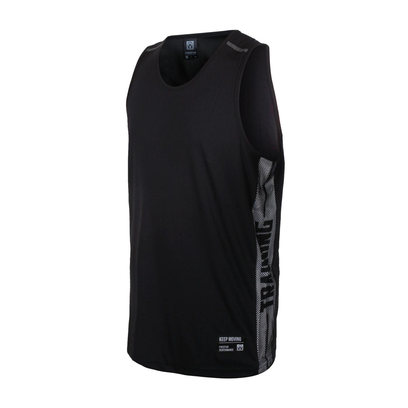 FIRESTAR 男款吸排訓練籃球背心 B1709-10 - 黑灰