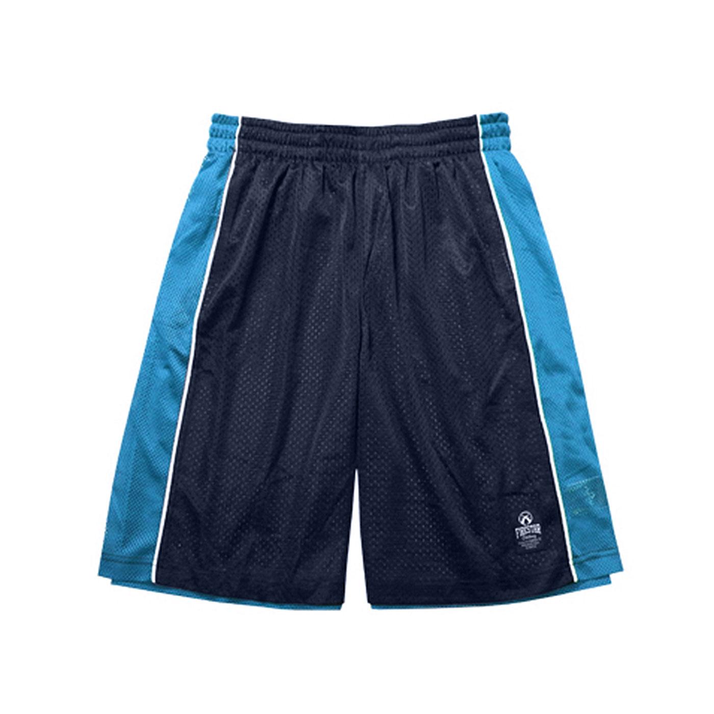 FIRESTAR 籃球褲 B3702-10 - 丈青水藍