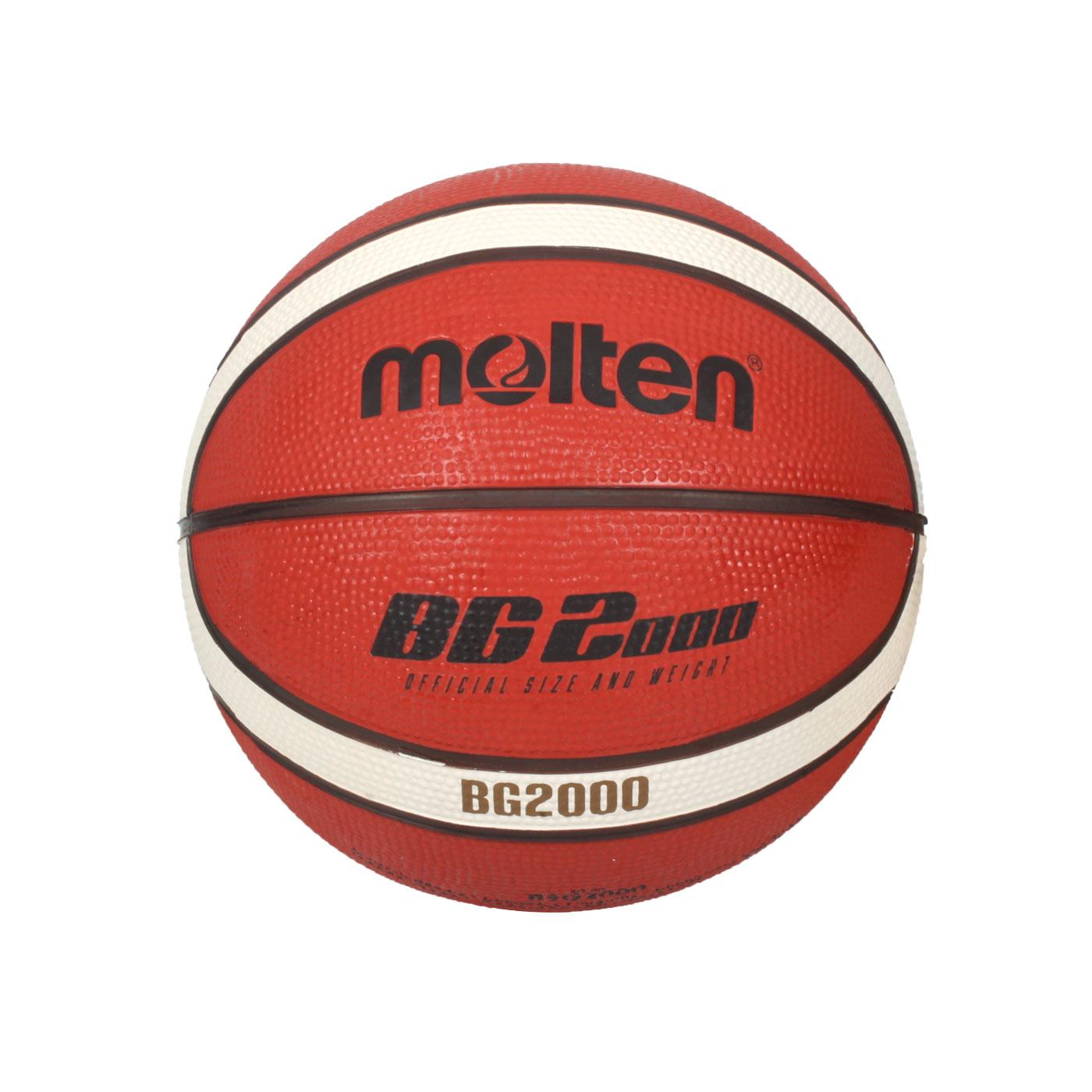 Molten 12片橡膠平溝籃球 B3G2000 - 橘米白