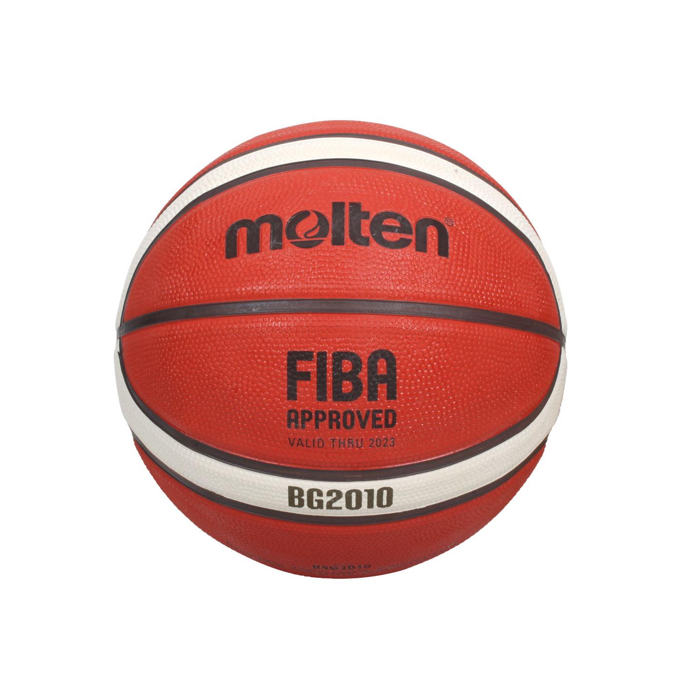 Molten 12片橡膠深溝籃球#5  B5G2010 - 橘米白黑