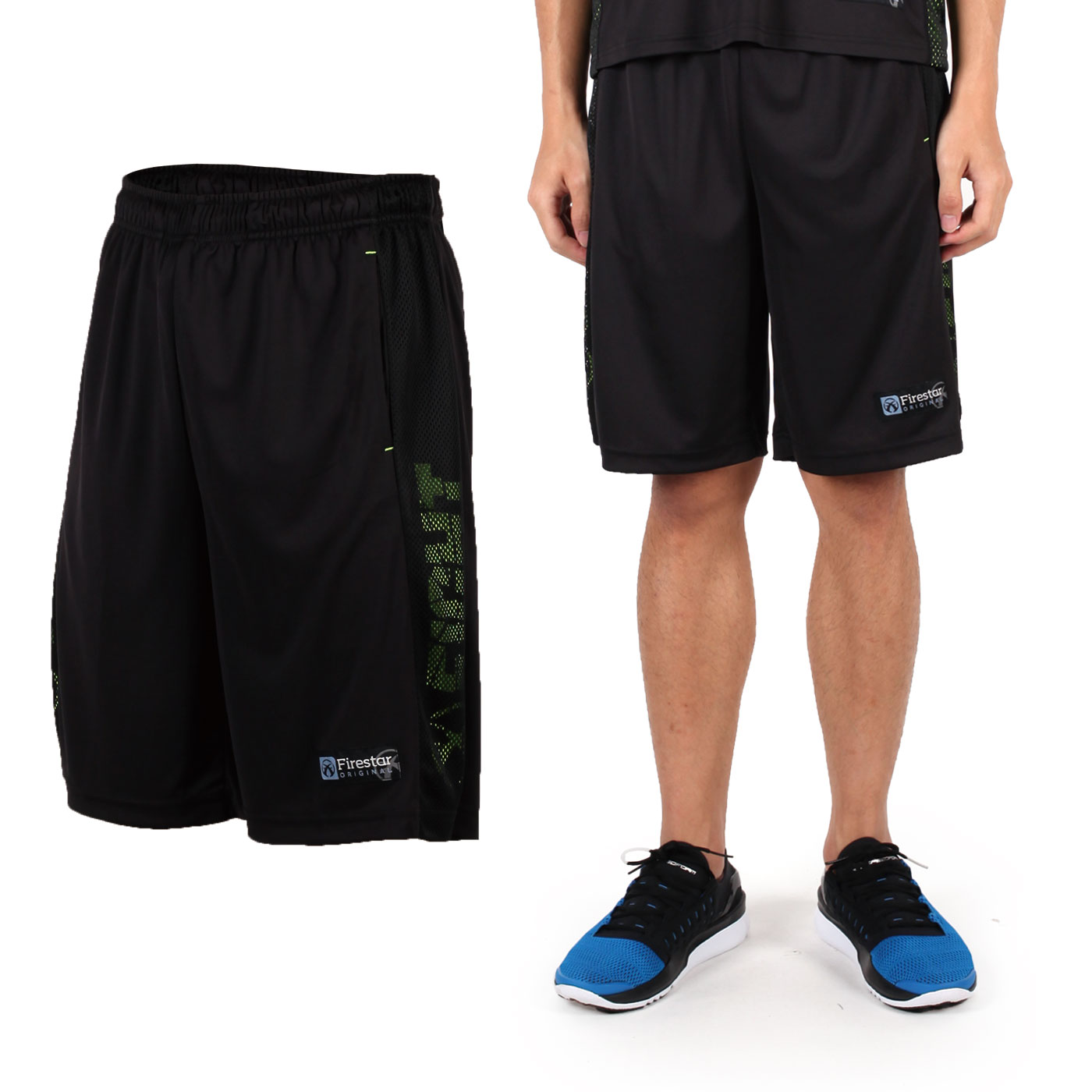 FIRESTAR 吸排籃球褲 B6301-10 - 黑綠