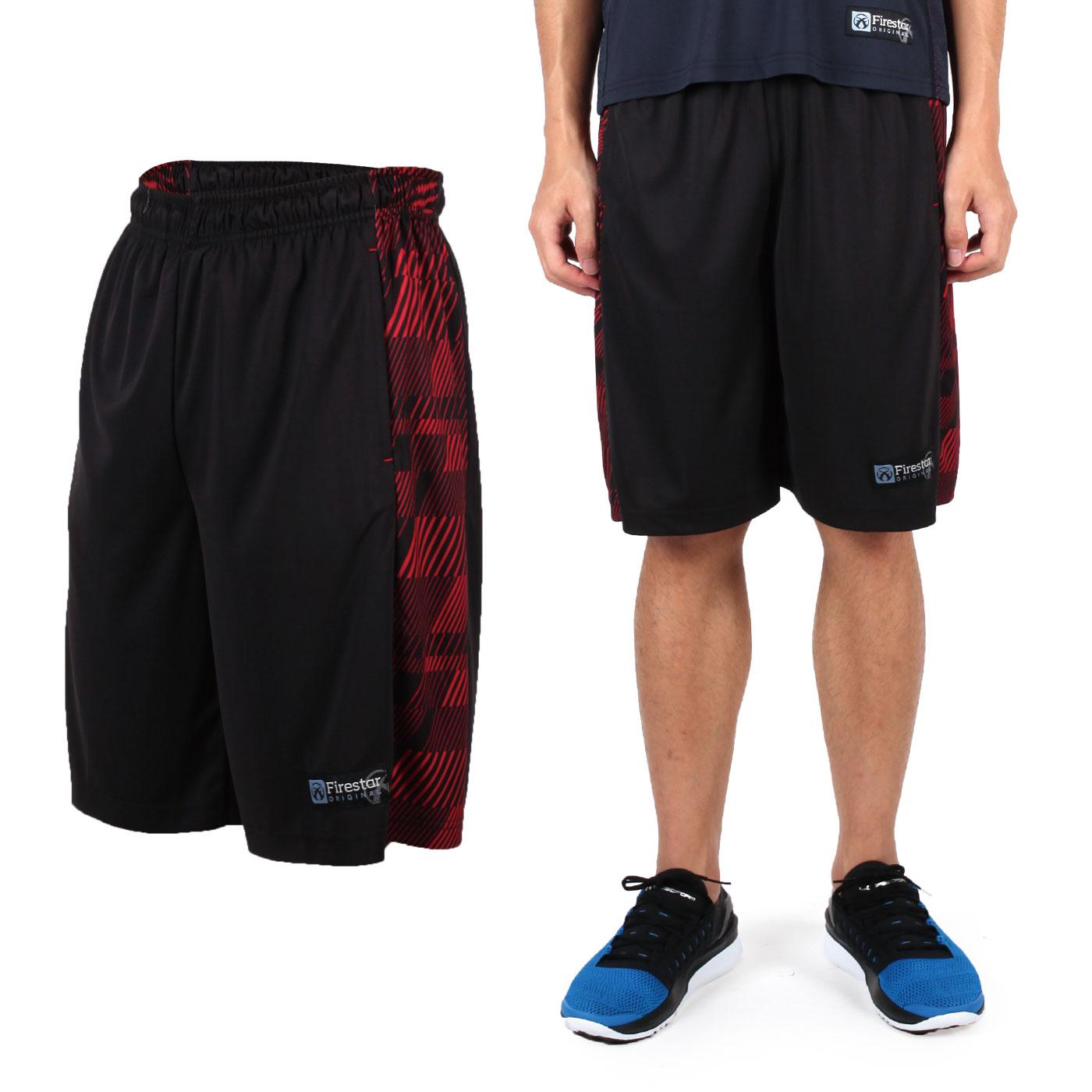 FIRESTAR 吸排籃球褲 B6303-10 - 黑紅