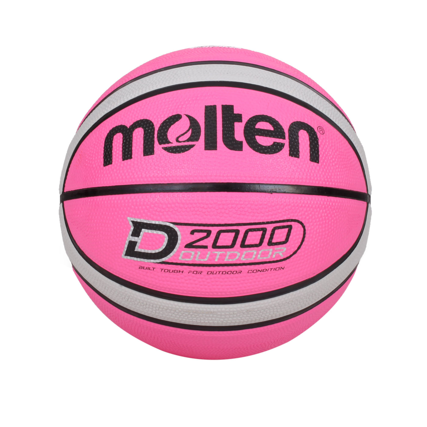 Molten #6橡膠深溝12片貼籃球 B6D2005-PH - 粉紅灰