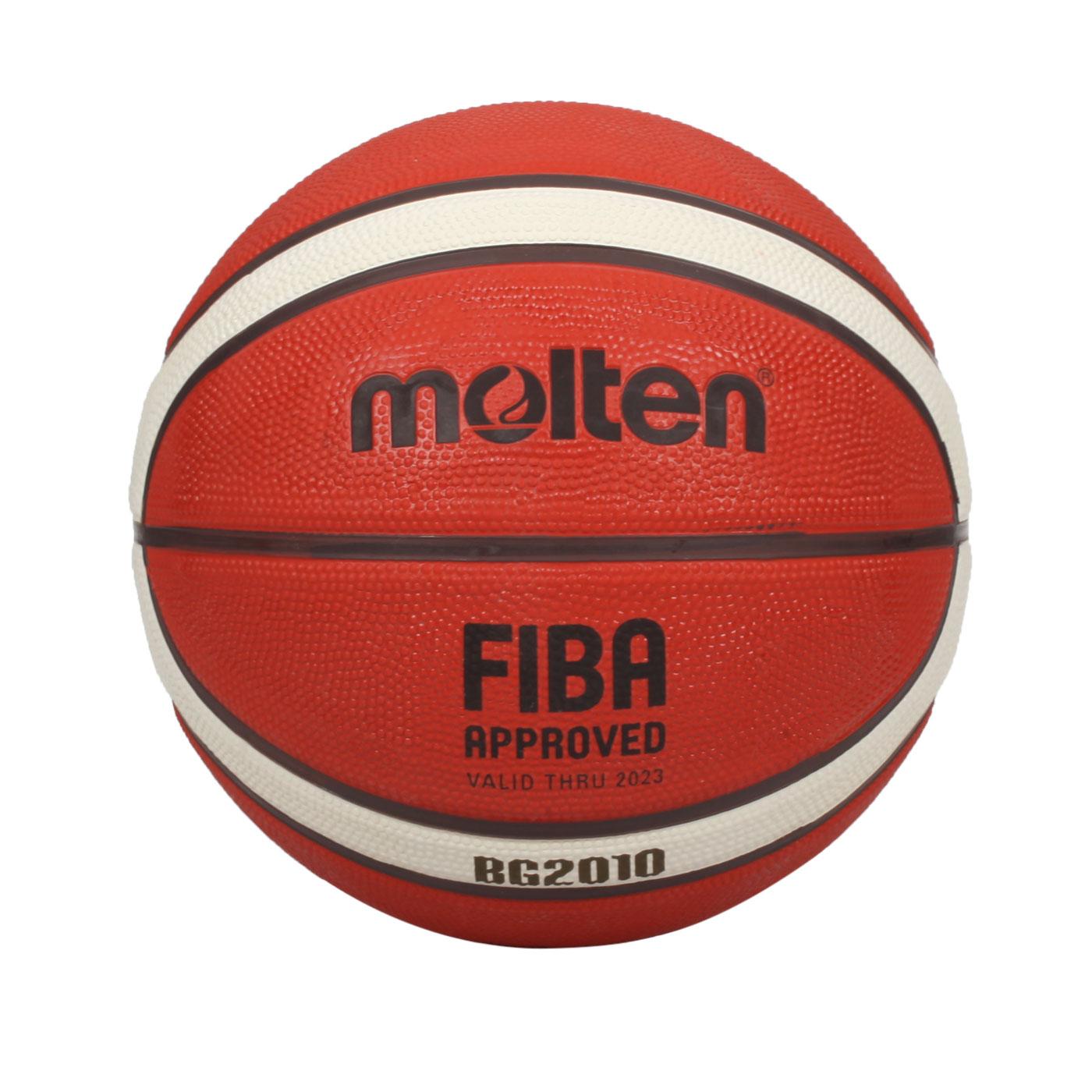 Molten 12片橡膠深溝籃球#6 B6G2010 - 橘米白