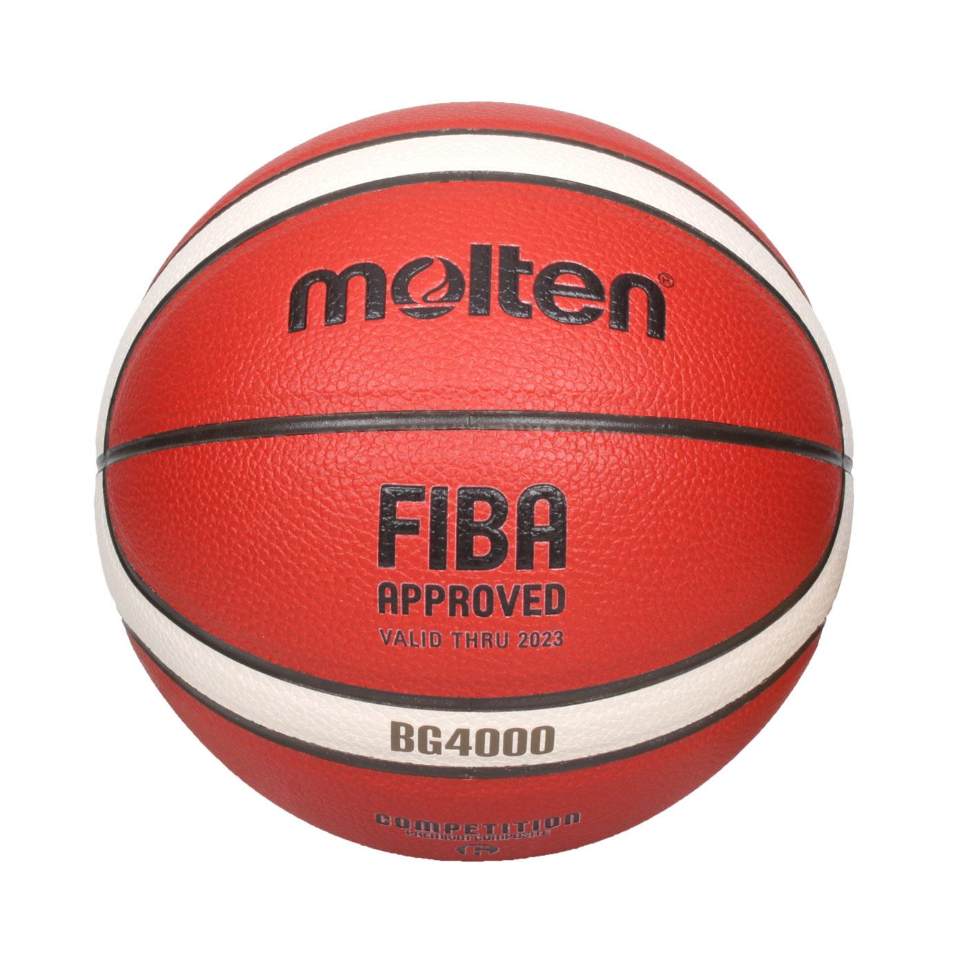 Molten #6合成皮12片貼籃球 B6G4000 - 橘米白黑