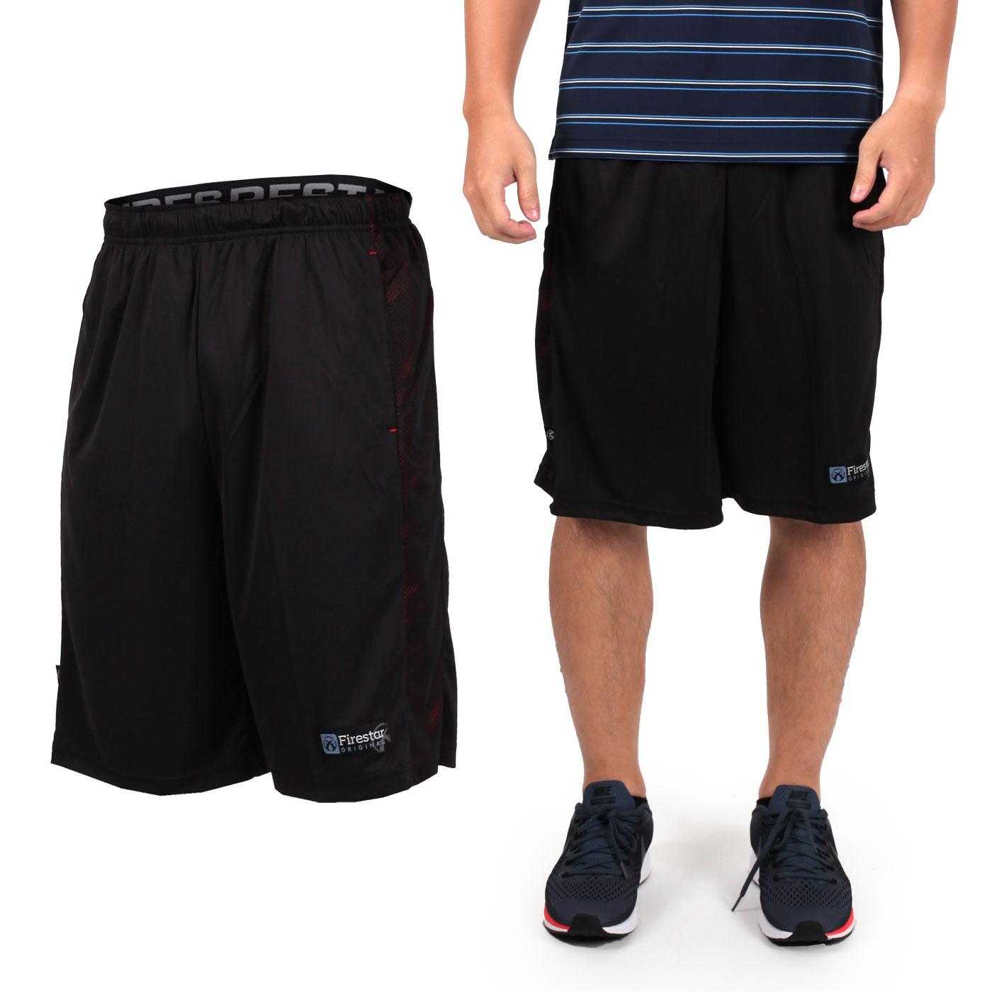 FIRESTAR 男籃球褲 B7603-40 - 黑紅