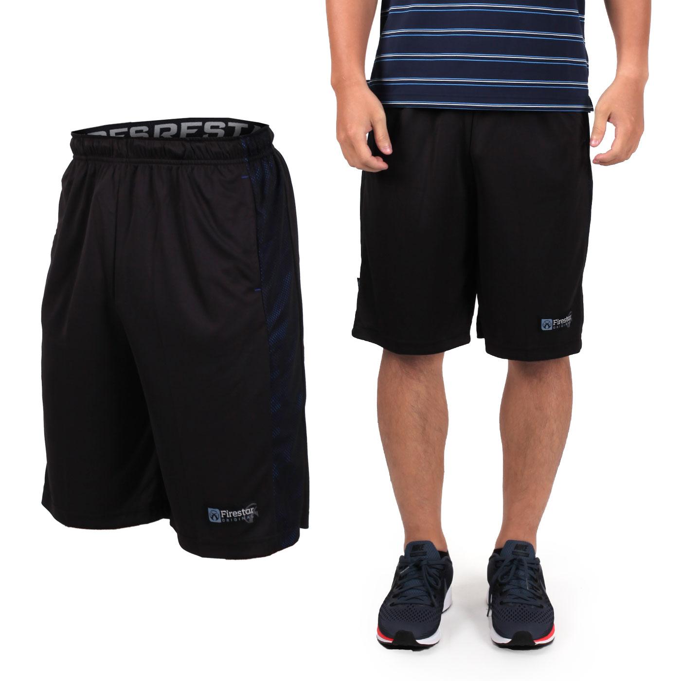 FIRESTAR 男籃球褲 B7603-40 - 黑藍