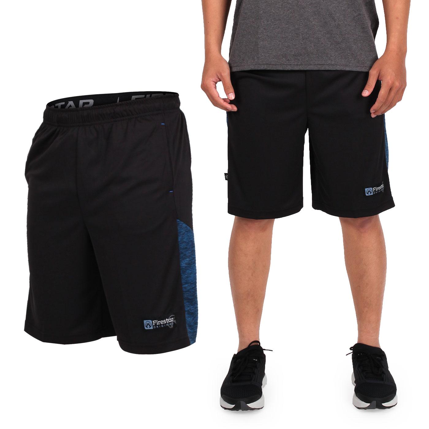 FIRESTAR 男籃球褲 B7605-10 - 黑藍