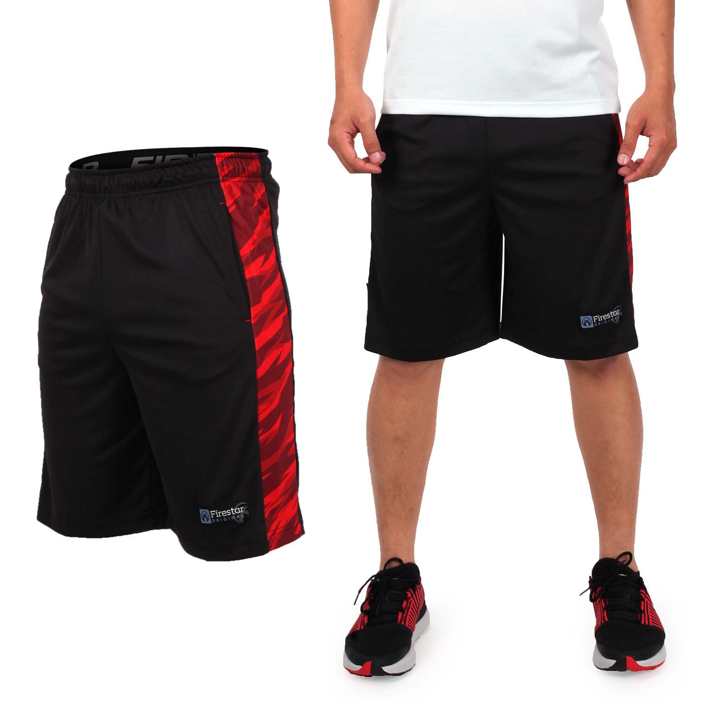 FIRESTAR 籃球褲 B7606-40 - 黑紅