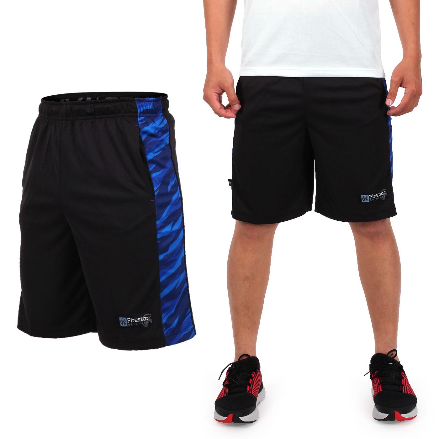 FIRESTAR 籃球褲 B7606-40 - 黑寶藍