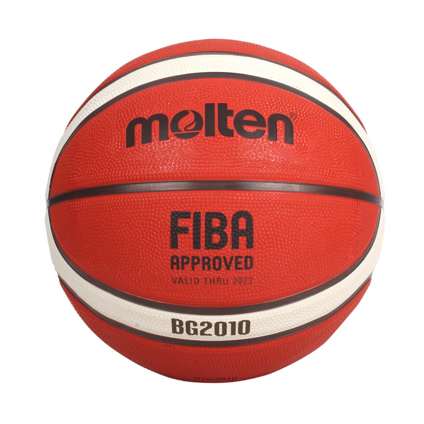 Molten 12片橡膠深溝籃球#7 B7G2010 - 橘米白